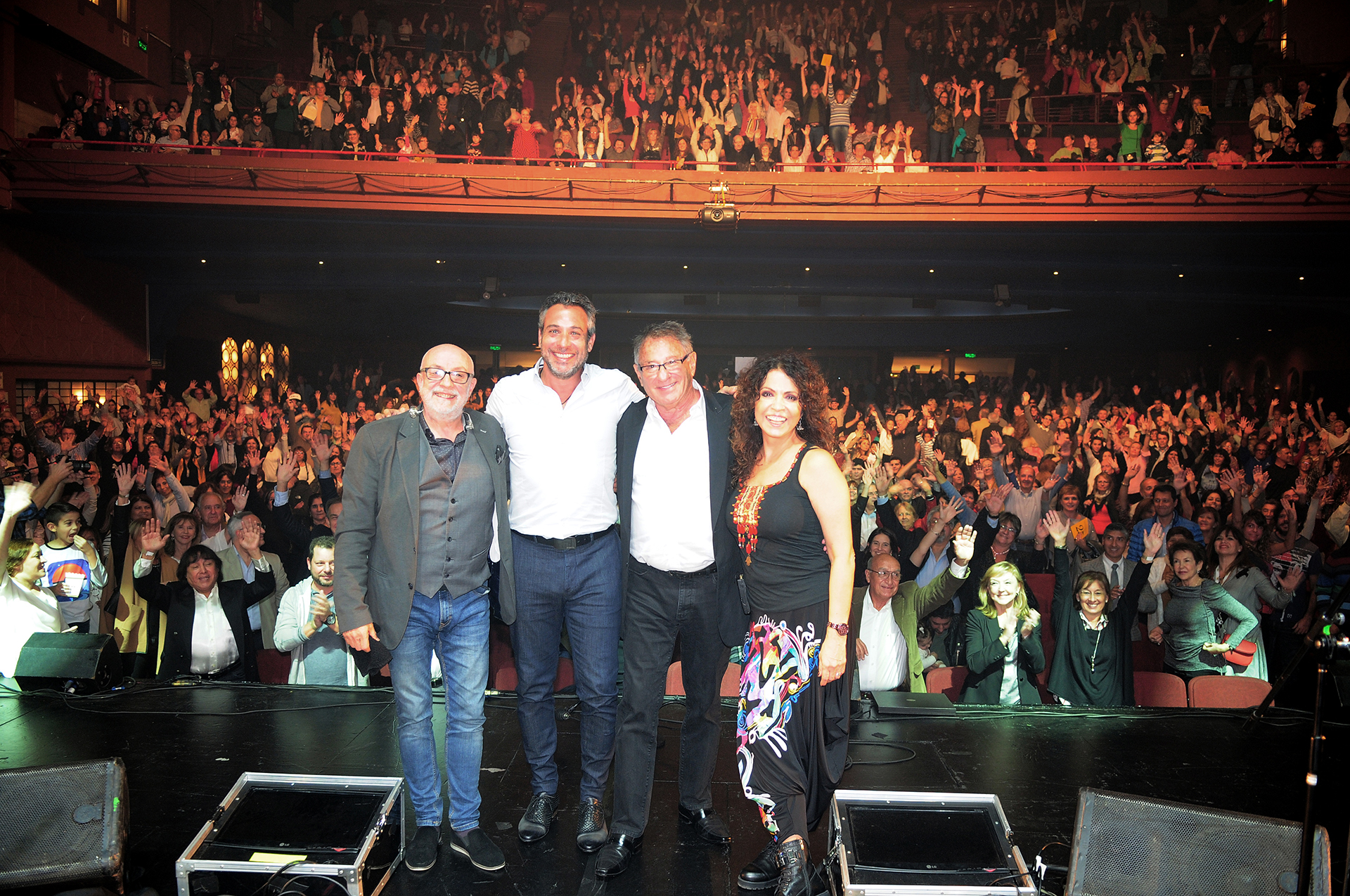 Patricia Sosa, Lito Vitale y Juan Carlos Baglietto se lucieron ante la multitud de asistentes