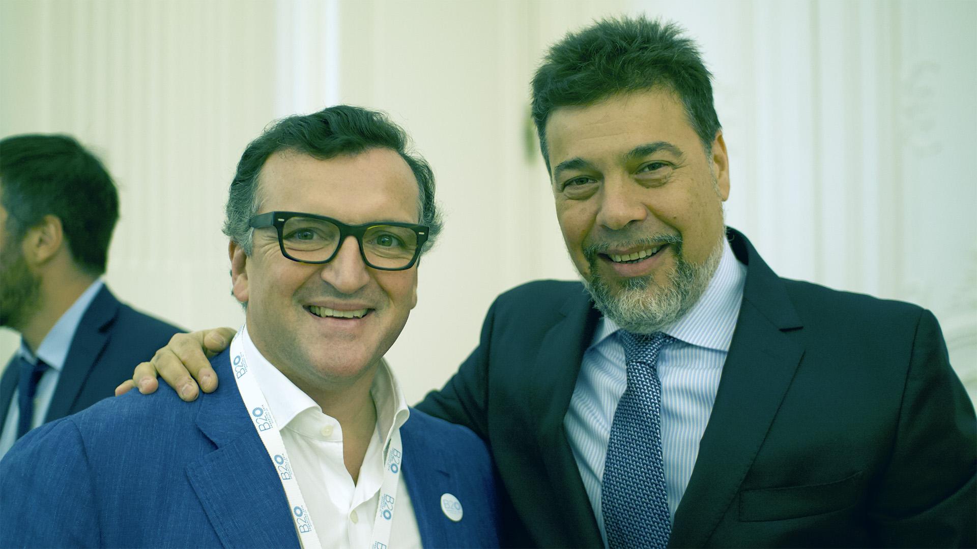Martín Mioya, CEO de Globant y chair de Educación y Empleo, junto a Darío Werthein, de Grupo W
