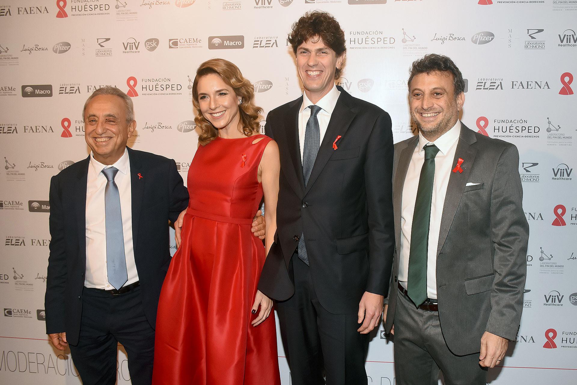 Pedro Cahn, Carla Peterson, Martín Lousteau y Leandro Cahn