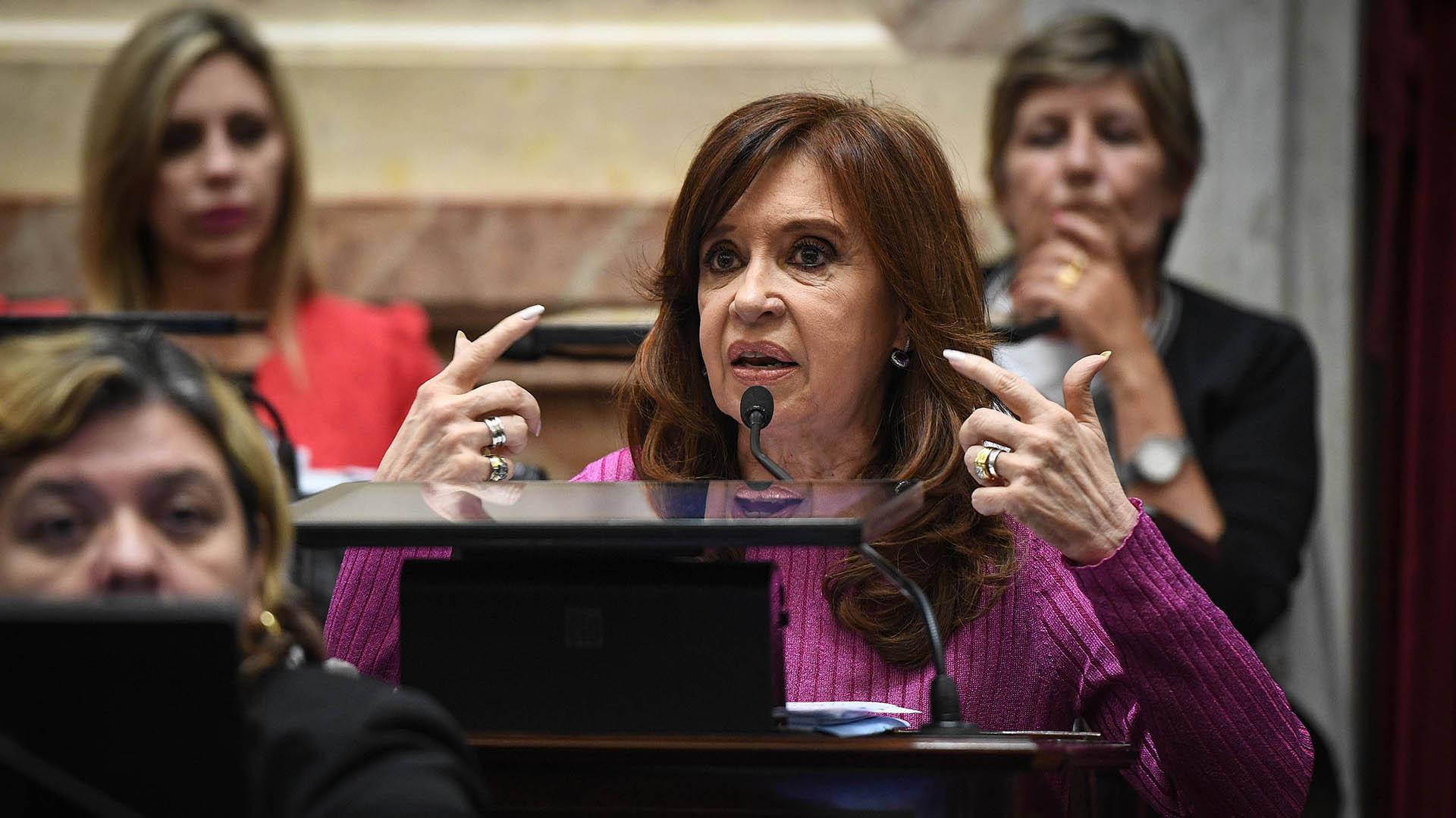 La senadora Cristina Kirchner