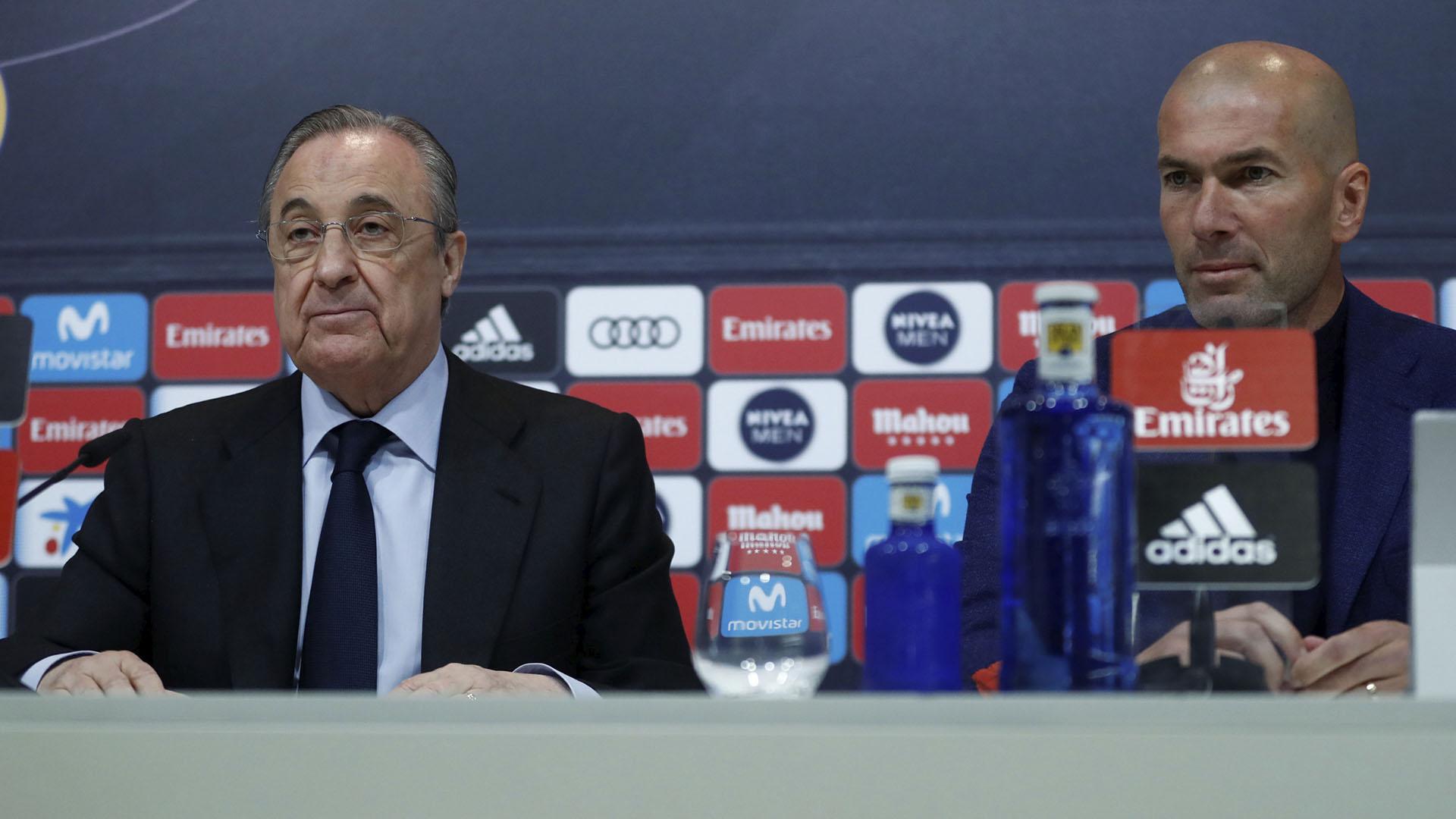 (Reuters) Zidane y Florentino Pérez llegaron a un acuerdo