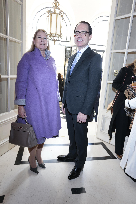 María Taquini de Blaquier y el embajador de Grecia en la Argentina, Dimitris Zevelakis