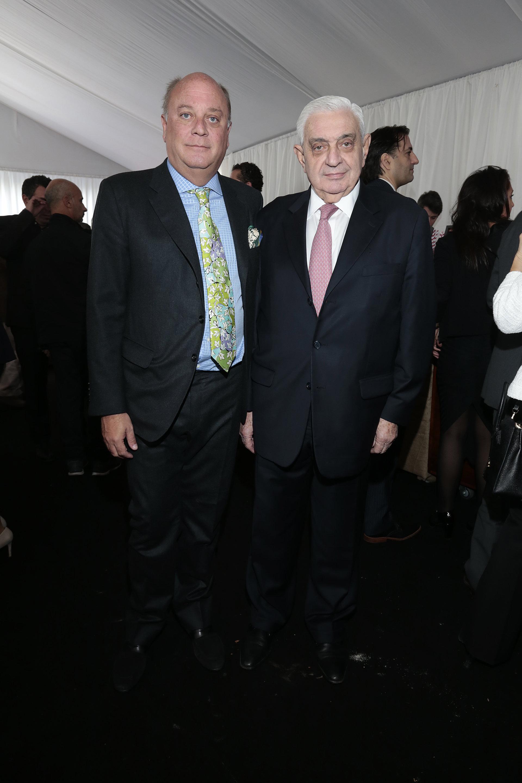 Martín Cabrales y el presidente de la Bolsa de Comercio de Buenos Aires, Adelmo Gabbi