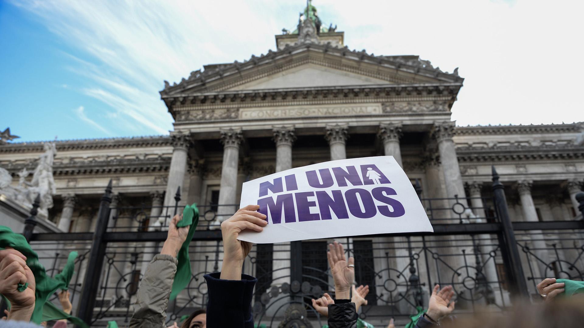 """La consigna """"Ni Una Menos"""", que se convirtió en un símbolo de la lucha contra la violencia de género en nuestro país (Julieta Ferrario)"""