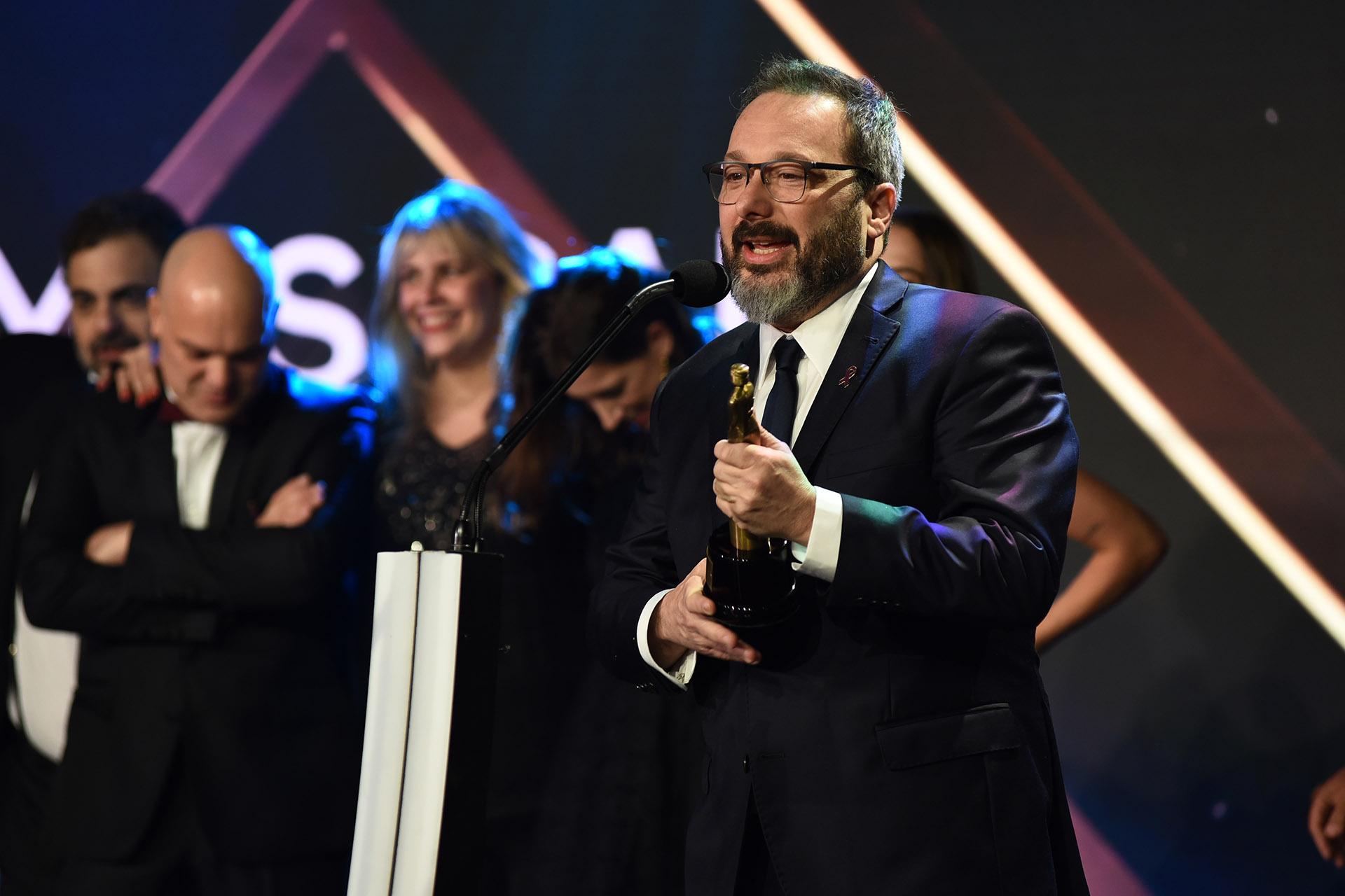 """Gerardo Rozín, agradeció el premio Mejor Musical por """"La peña de Morfi"""""""