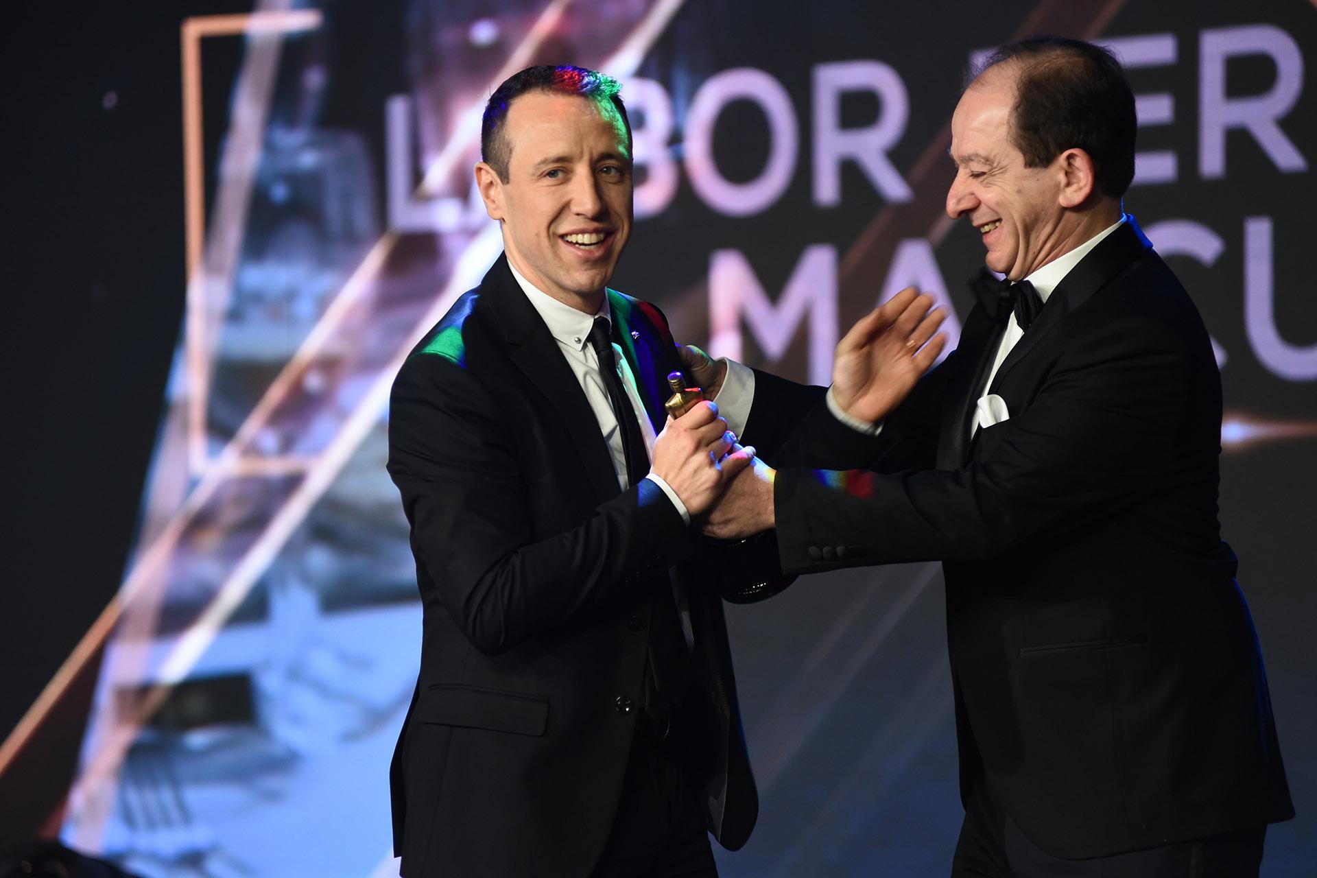 Facundo Pastor ganó en el rubro Labor Periodística Masculina