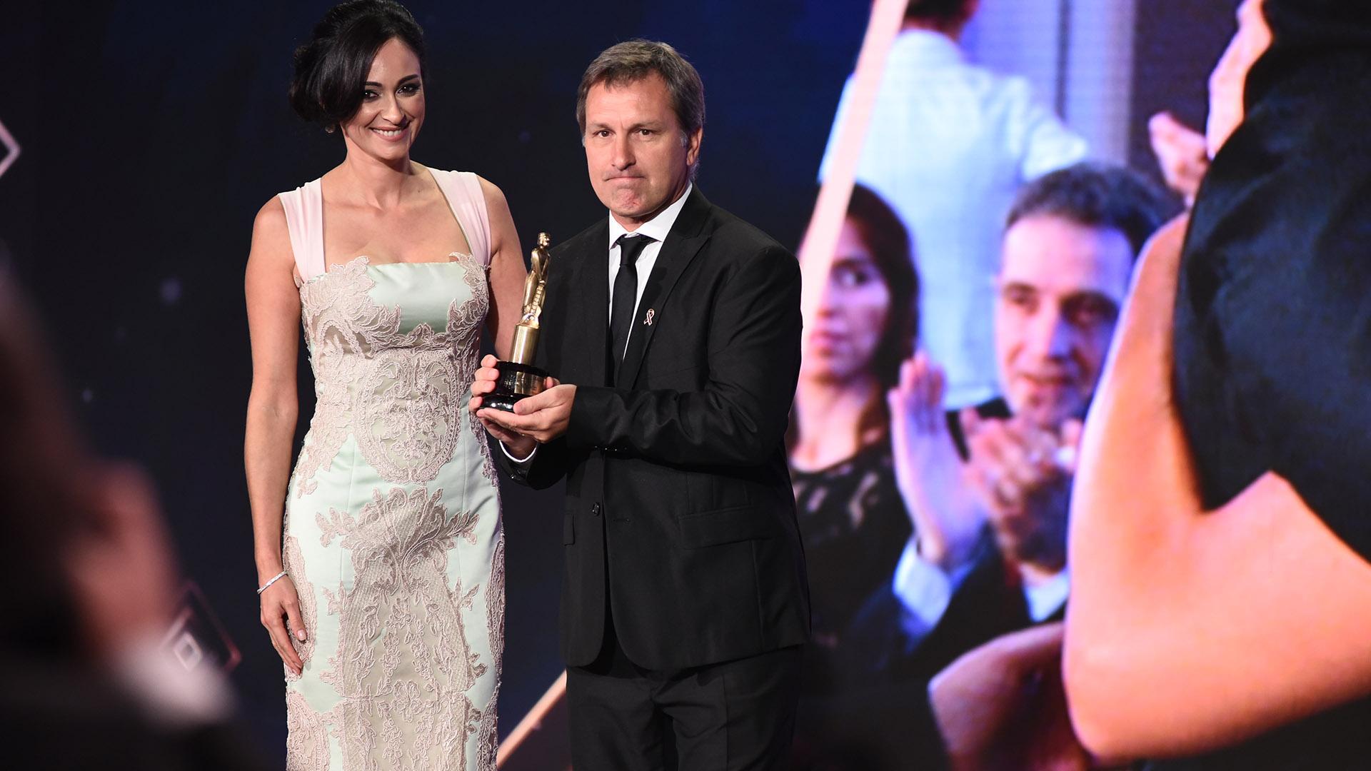 Guillermo Panizza, ganador como Mejor Cronista/Movilero por Telefe Noticias