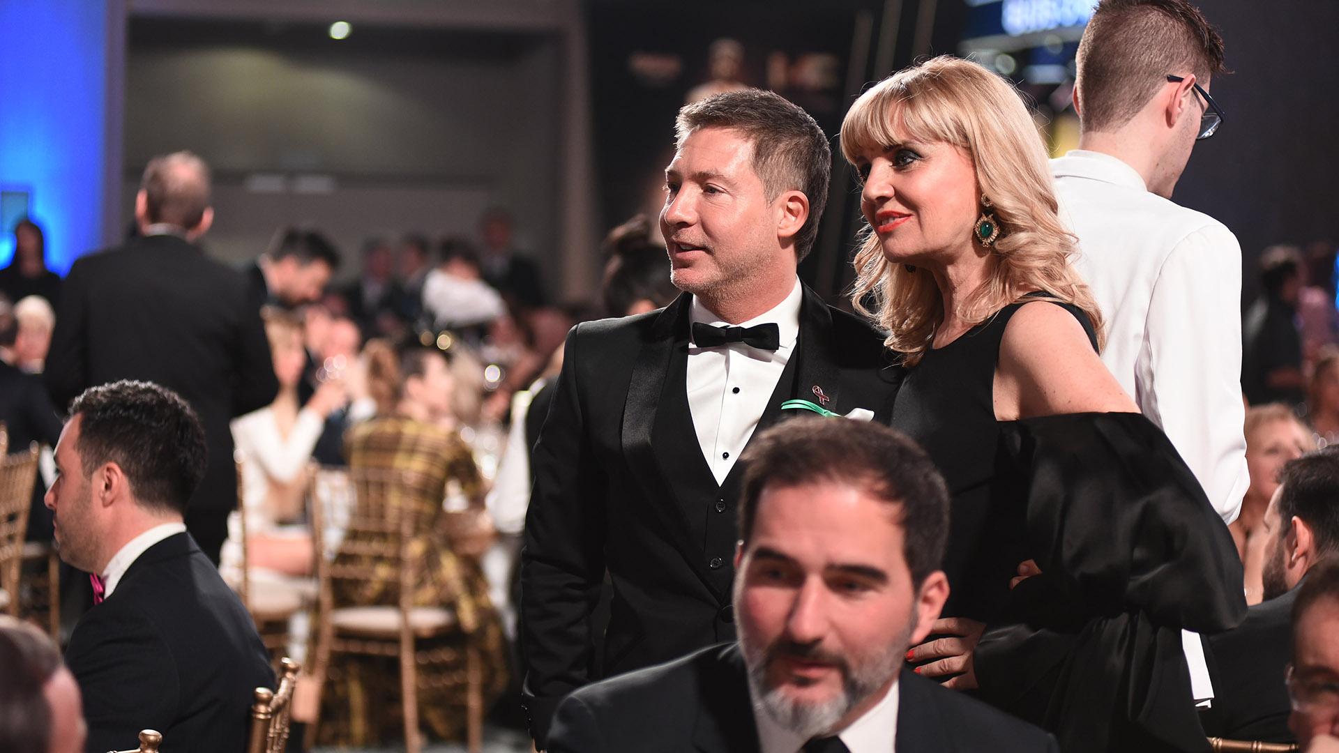 Adrián Suar y Teté Coustarot siguieron atentos cada minuto de la ceremonia de los Martín Fierro 2018