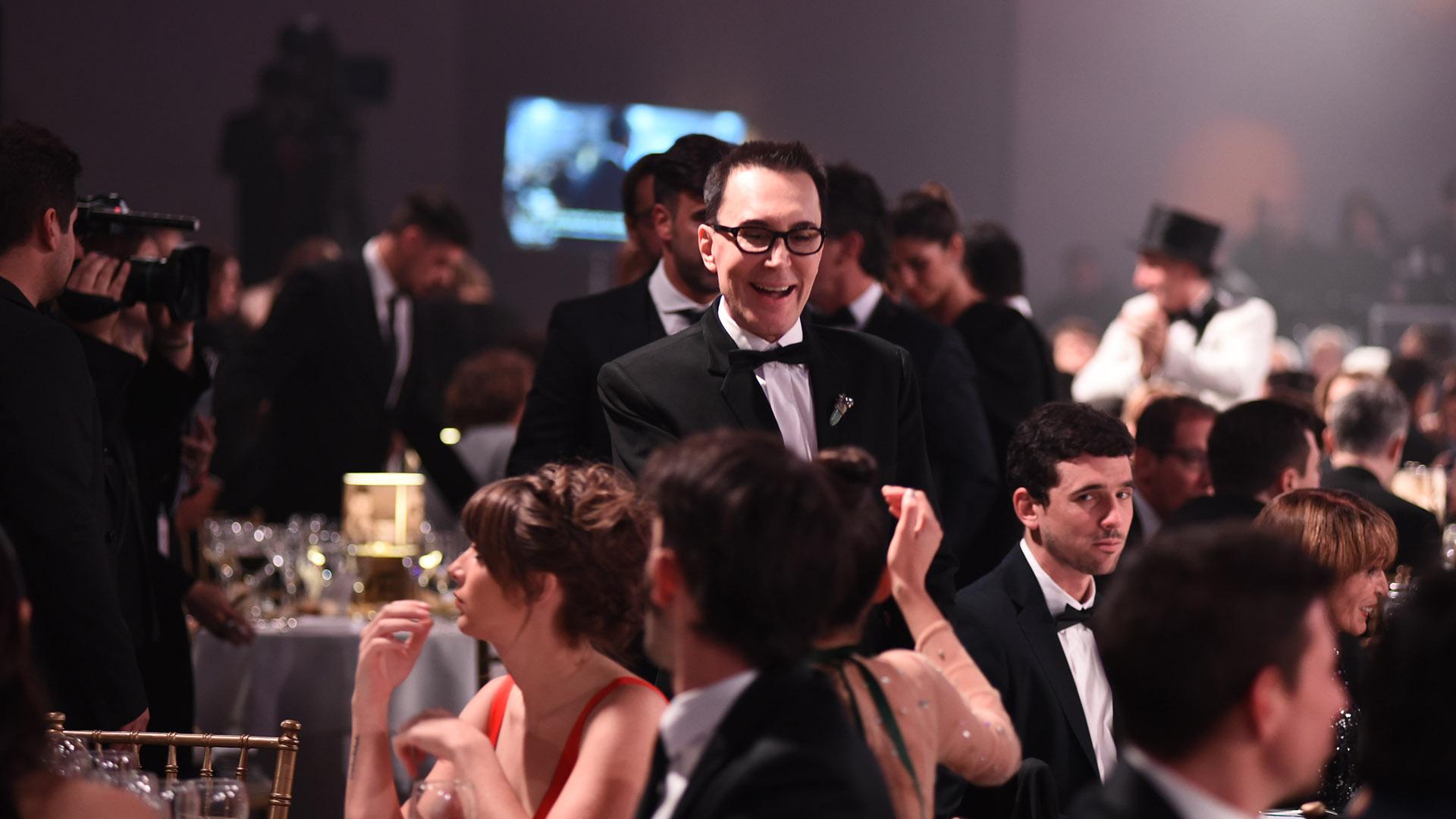 Marcelo Polino se quejó de la ubicación de la mesa en el salón