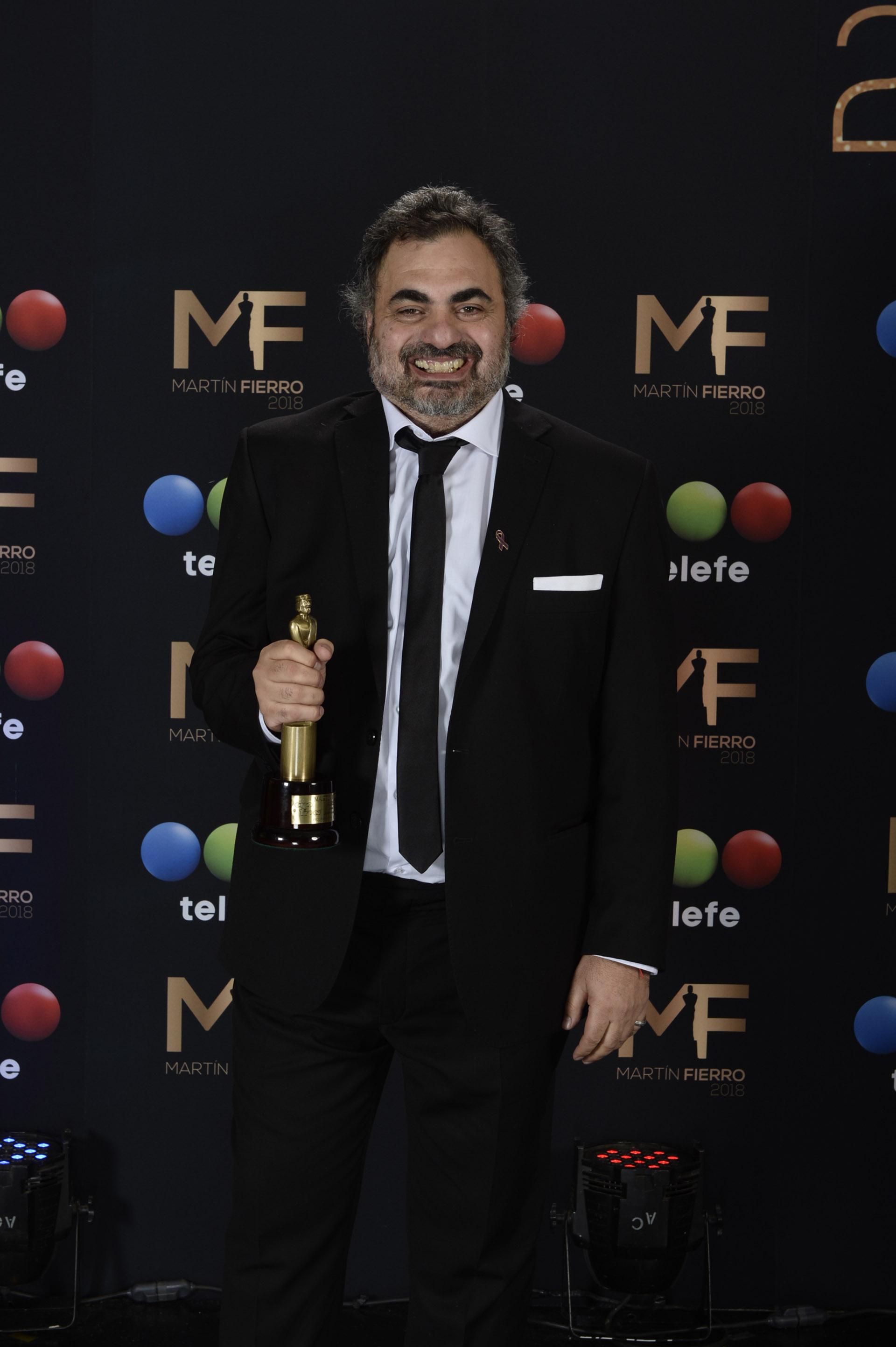 Roberto Moldavsky ganó el Martín Fierro 2018 a la Mejor Labor Humorística