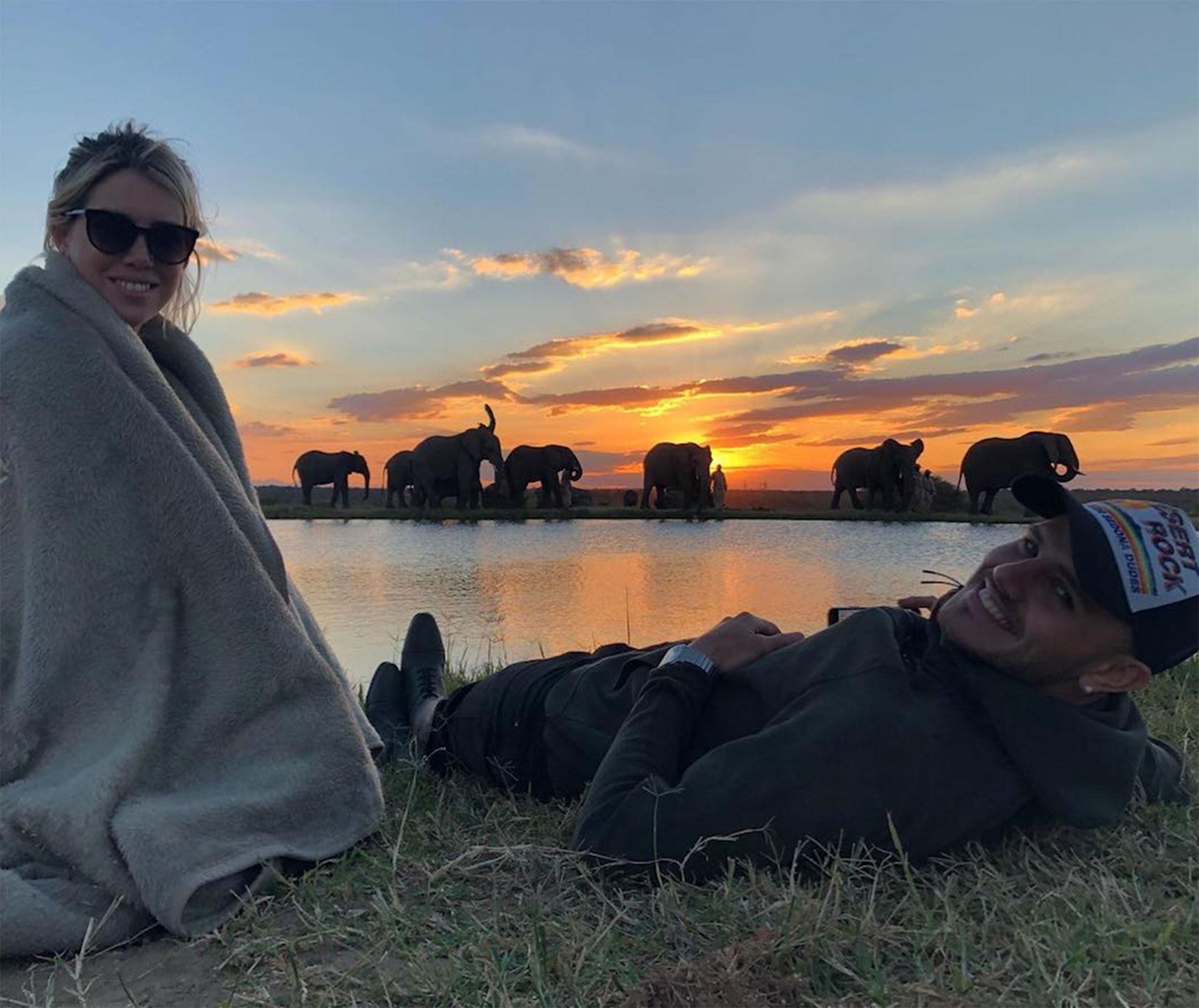 Juntos disfrutando del atardecer. (Foto: Instagram)