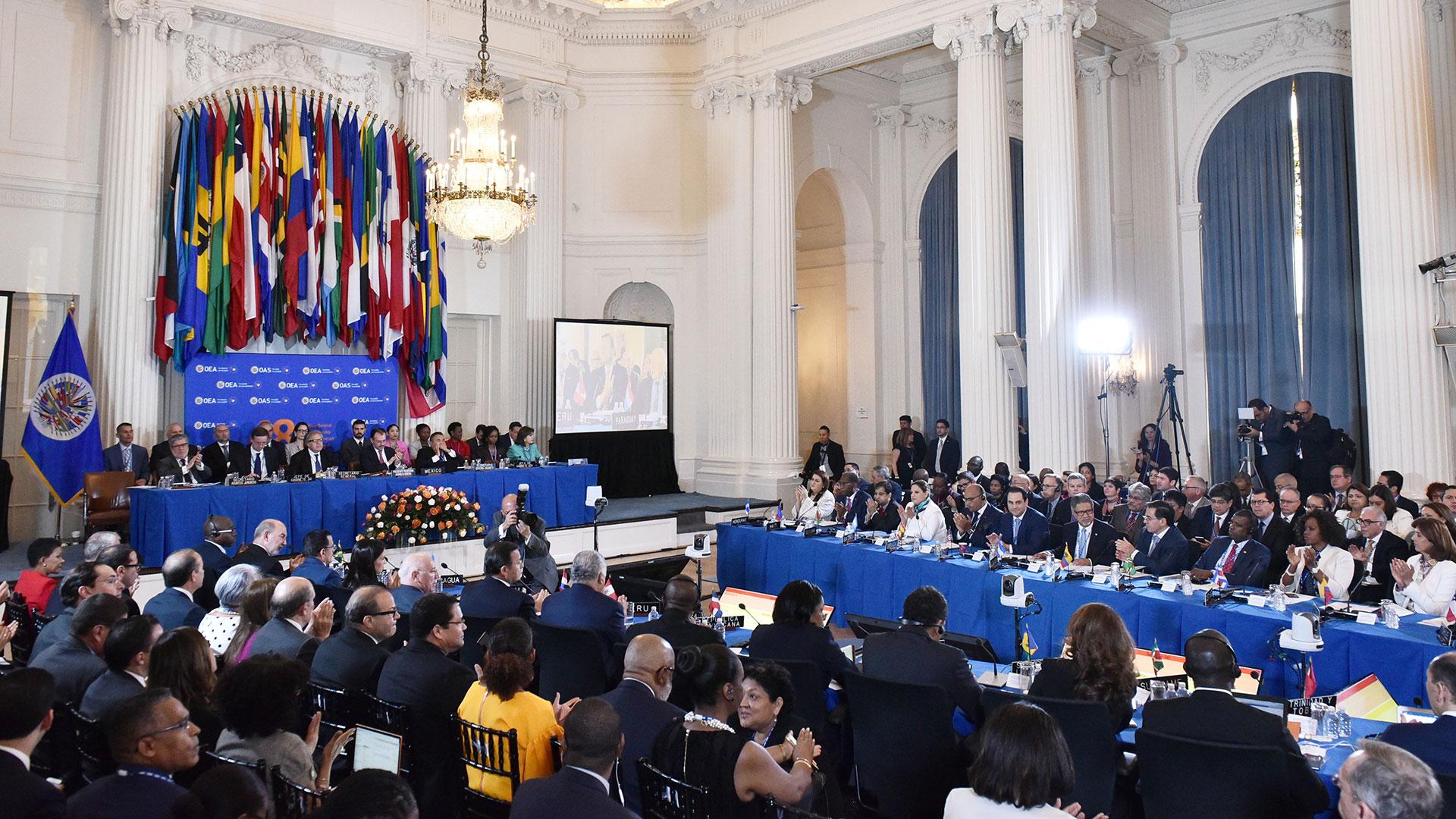 La Asamblea General de la OEA (AFP)