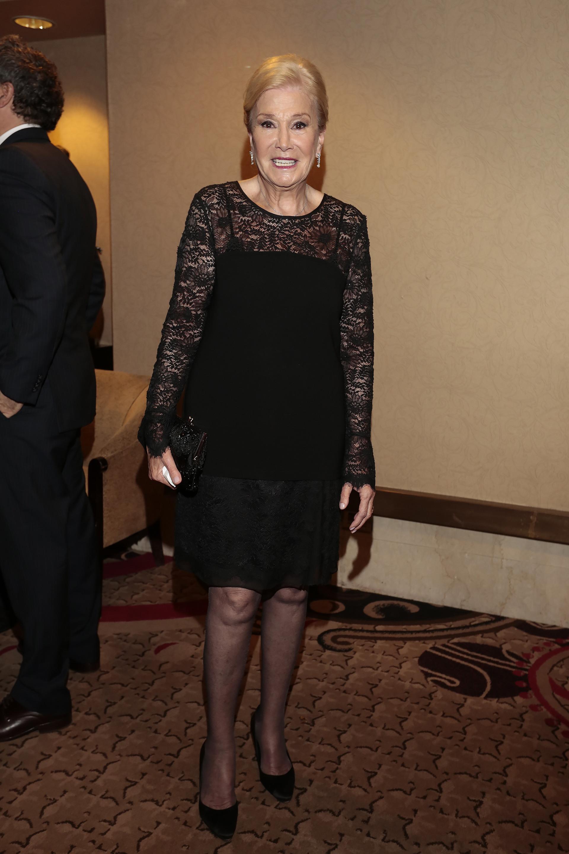 Pomi Awada, la madre de la Primera Dama Juliana Awada, también estuvo presente en la cena anual del Hospital Fernández