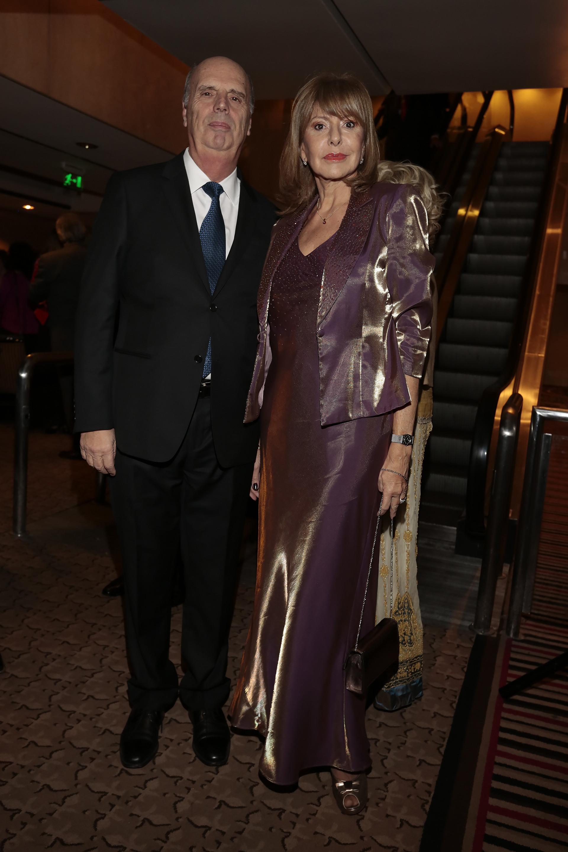 El vicepresidente 1ro de la Bolsa de Comercio de Buenos Aires, Héctor Orlando, y su mujer