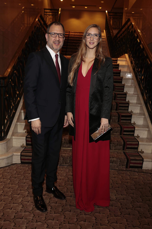 Fabián Perechodnik, Secretario General de la Provincia de Buenos Aires, y su hija Sofía