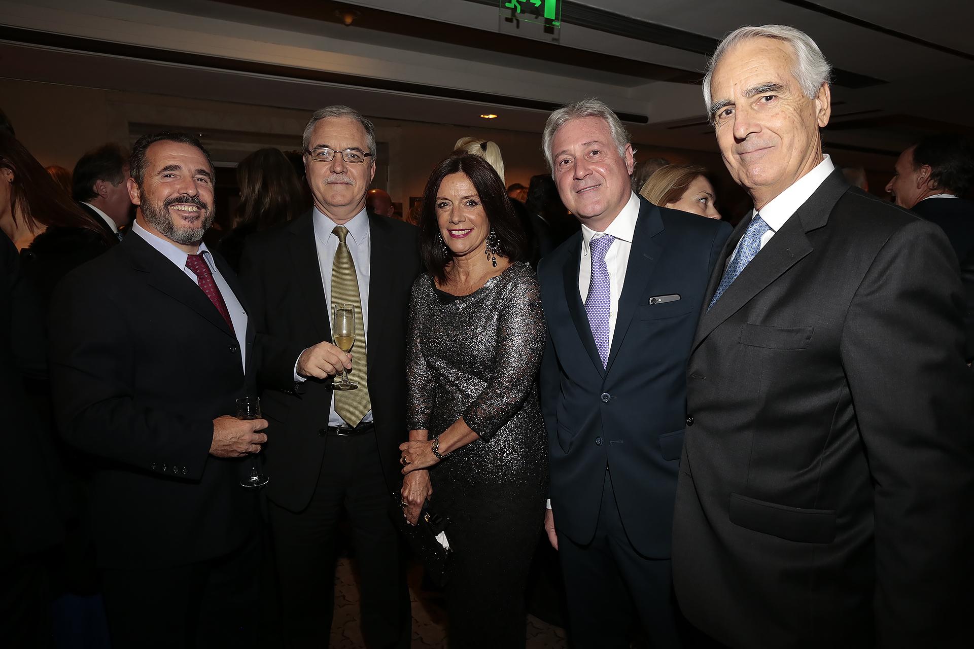 Ezequiel Barrenechea (Aeropuertos Argentina 2000); Ruben Rabanal (Ámbito Financiero); Carolina Barros (Corporación América); Matías Patanian (CEO de Aeropuertos Argentina 2000) y Raúl Guillermo Francos (Corp America Airports)