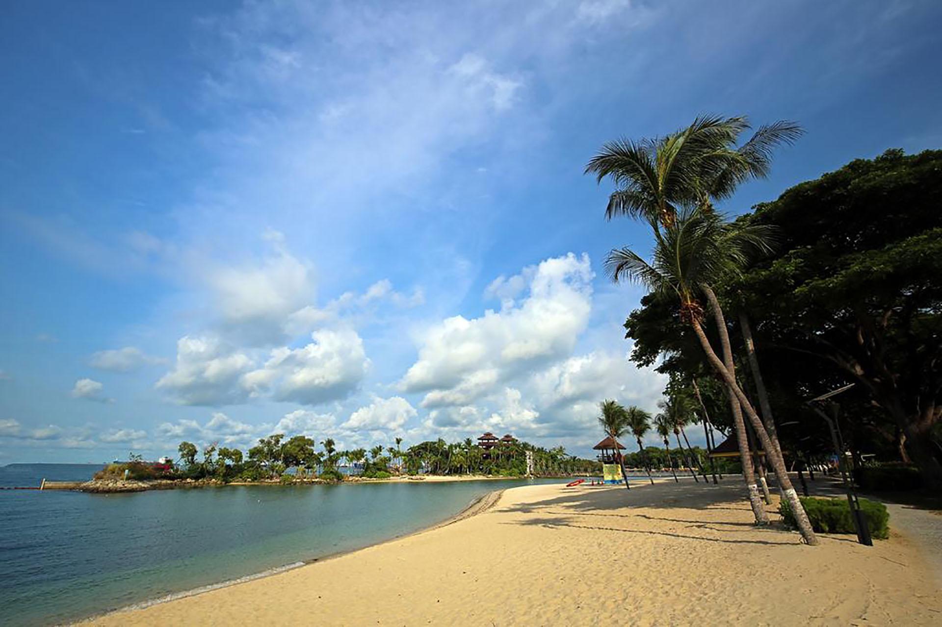 La isla cuenta con 3,2 kilómetros de playas de arena