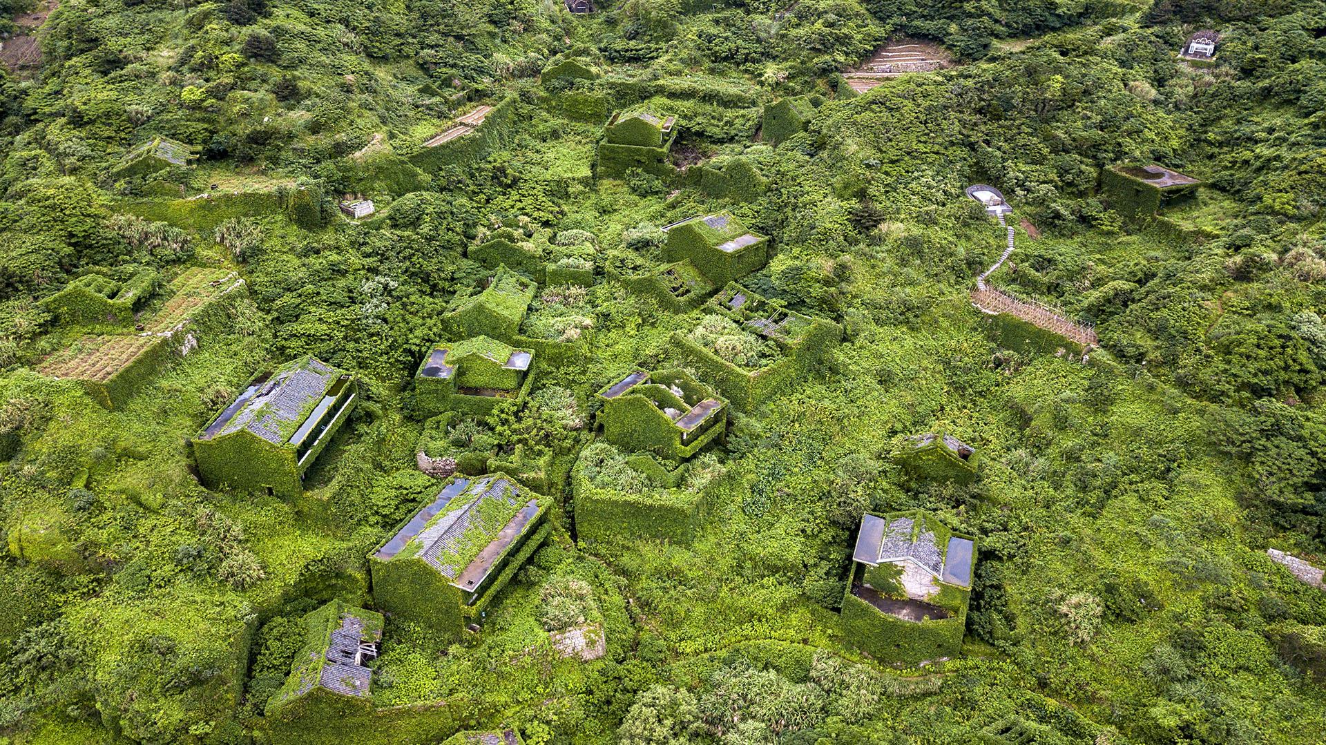 Hutuwan albergaba antaño una comunidad próspera de 2.000 pescadores en la isla de Shengshan