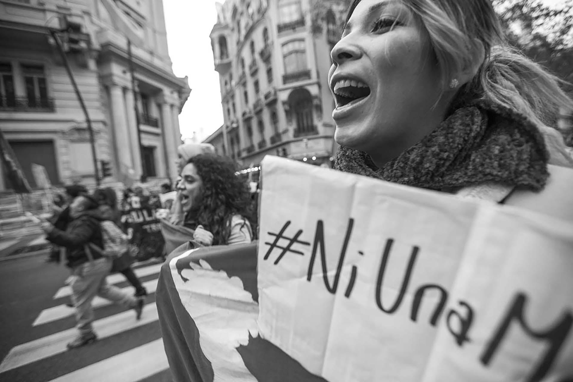En las marchas del #NiUnaMenos