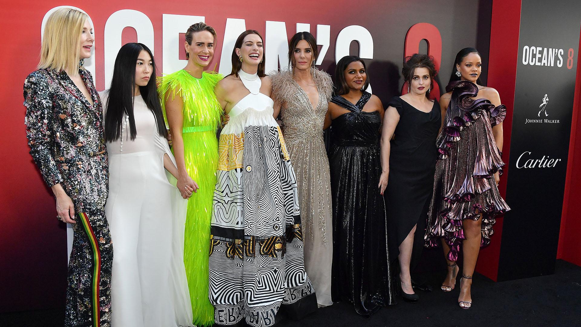 Las mujeres más elegantes en la premiere mundial de Ocean's 8 en Nueva York /// Fotos: AFP