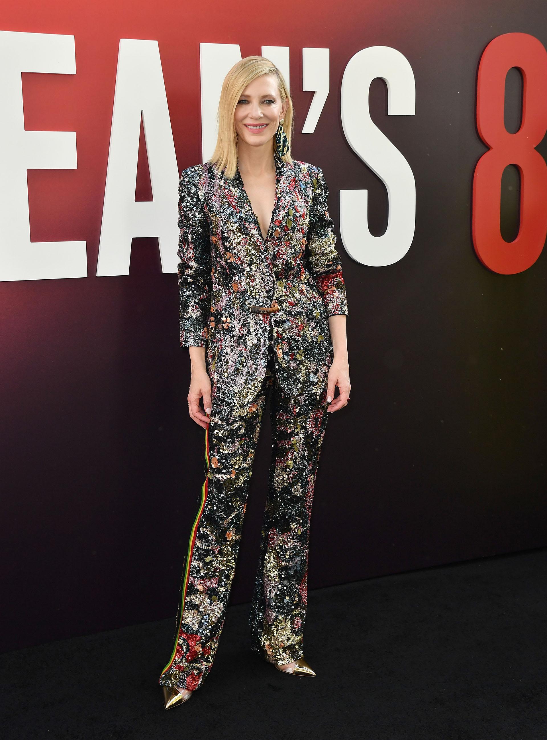 Un exquisito y brillante dos piezas para Cate Blanchett