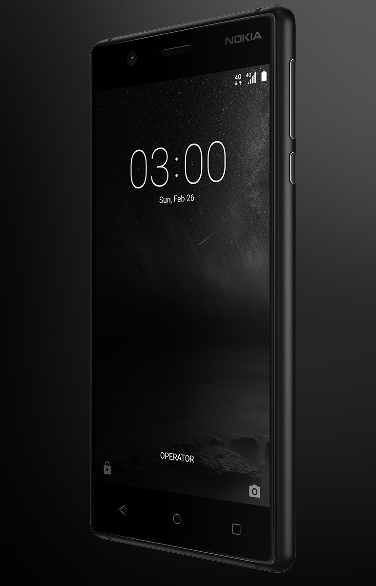 El Nokia 3 está disponible en azul y cuesta $6.499