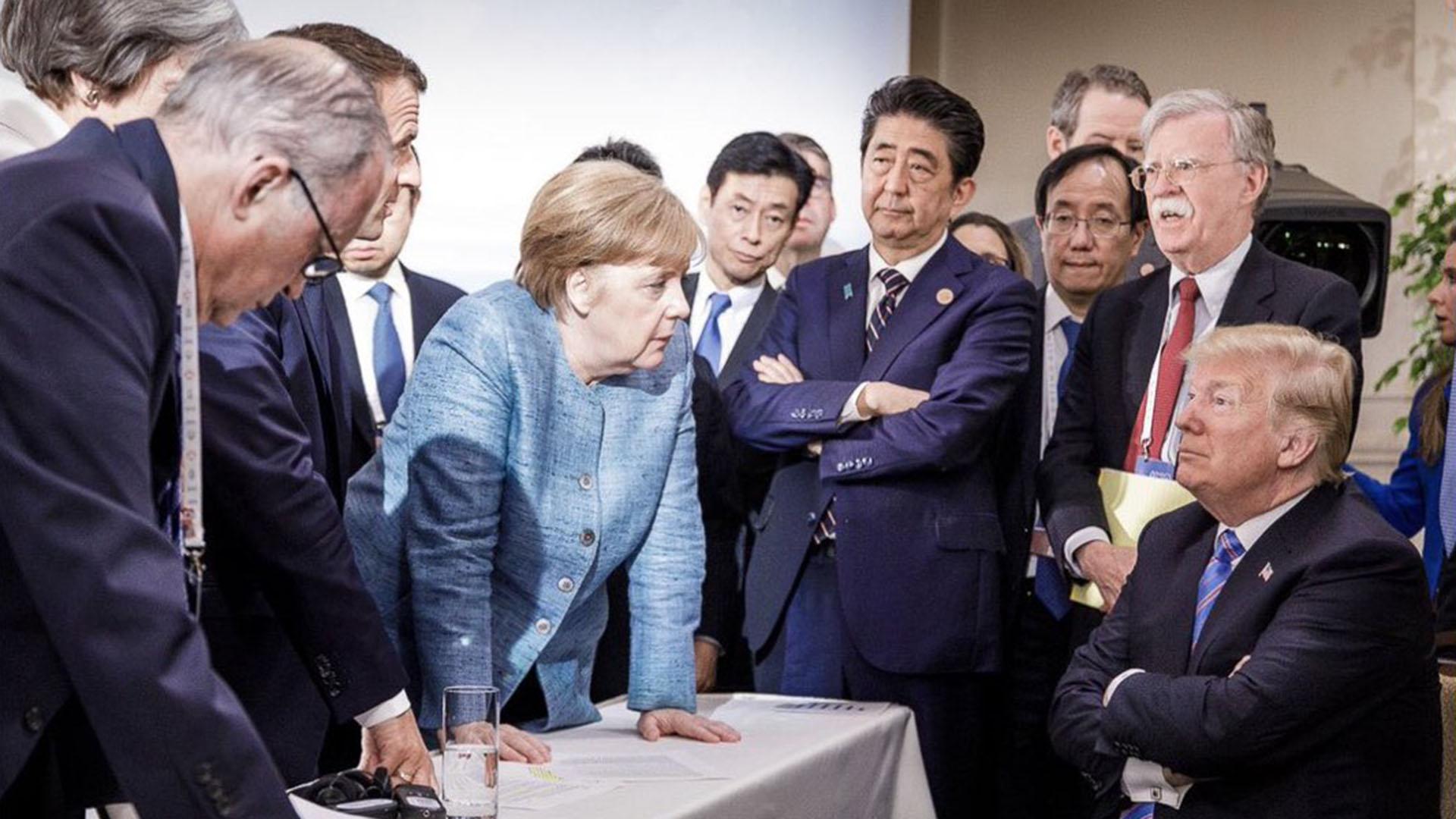 Termina G7 con 'berrinche' de Trump