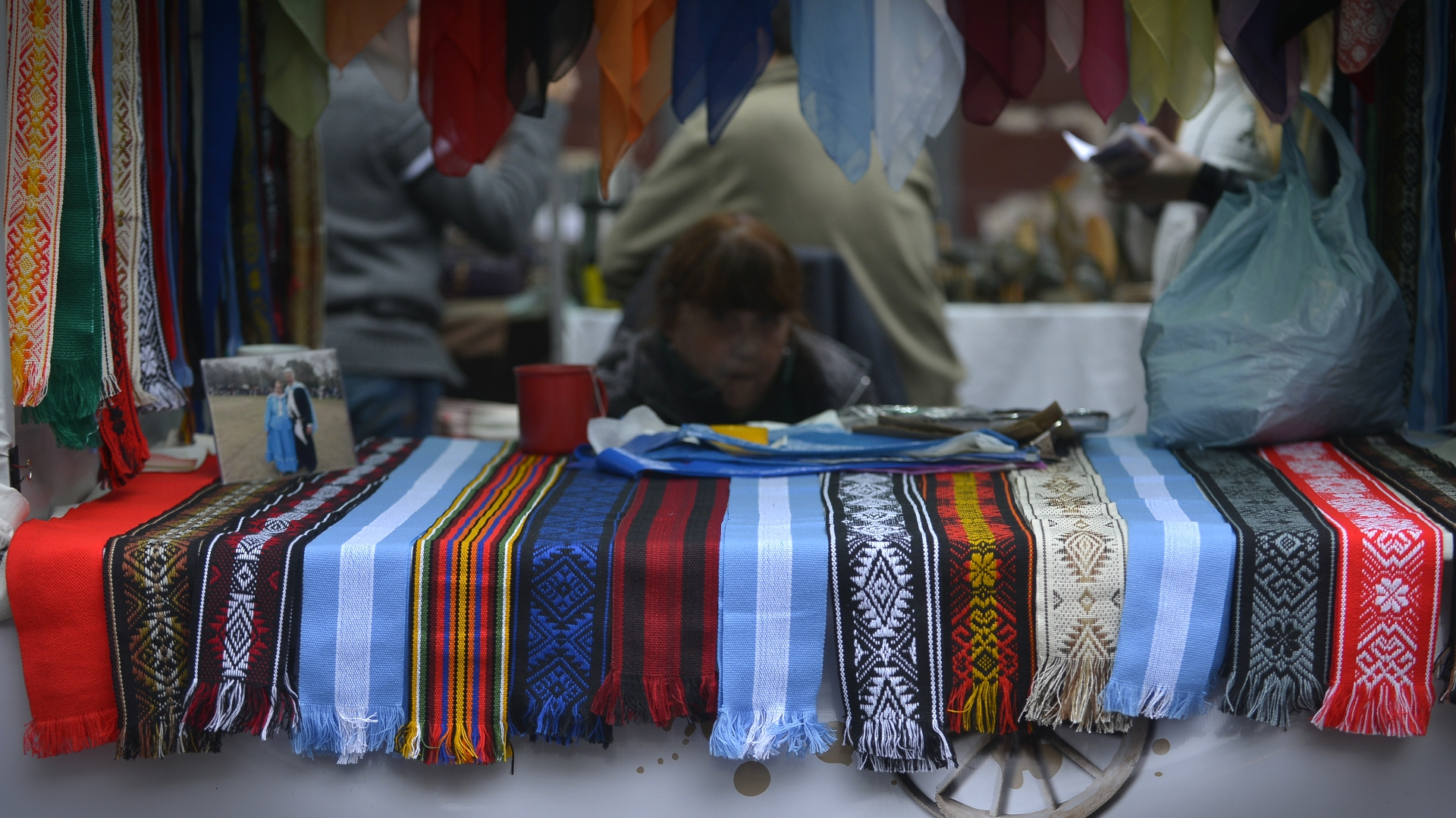 Fajas gauchas con diferentes diseños, un de los productos tradicionales promocionados