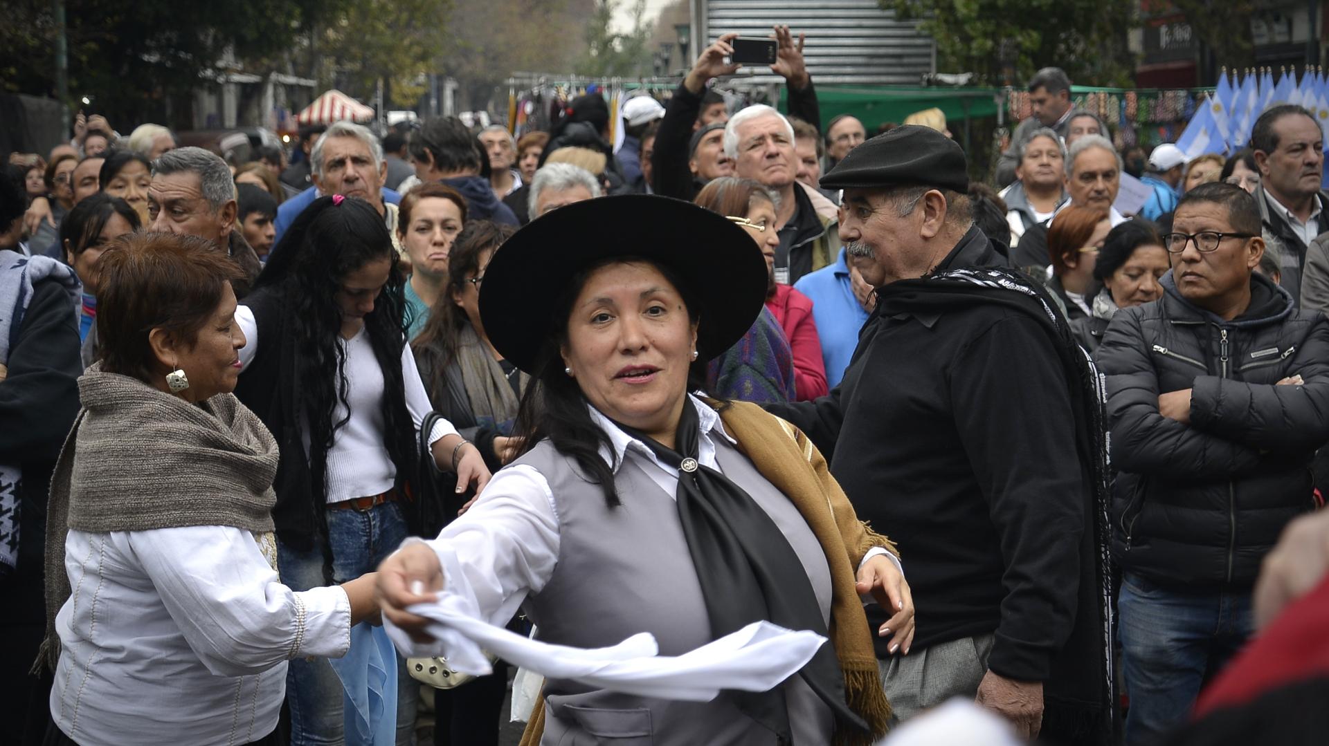 Hubo diferentes danzas folclóricas durante la tarde