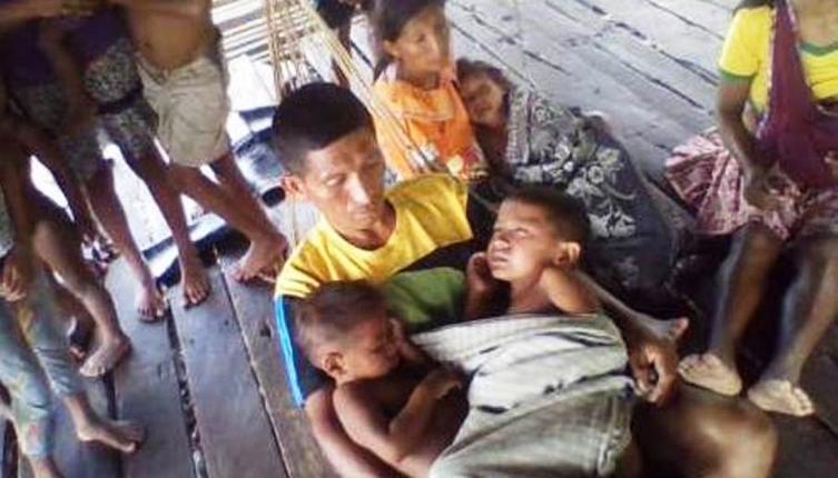 Niños enfermos en el estado de Delta Amacuro