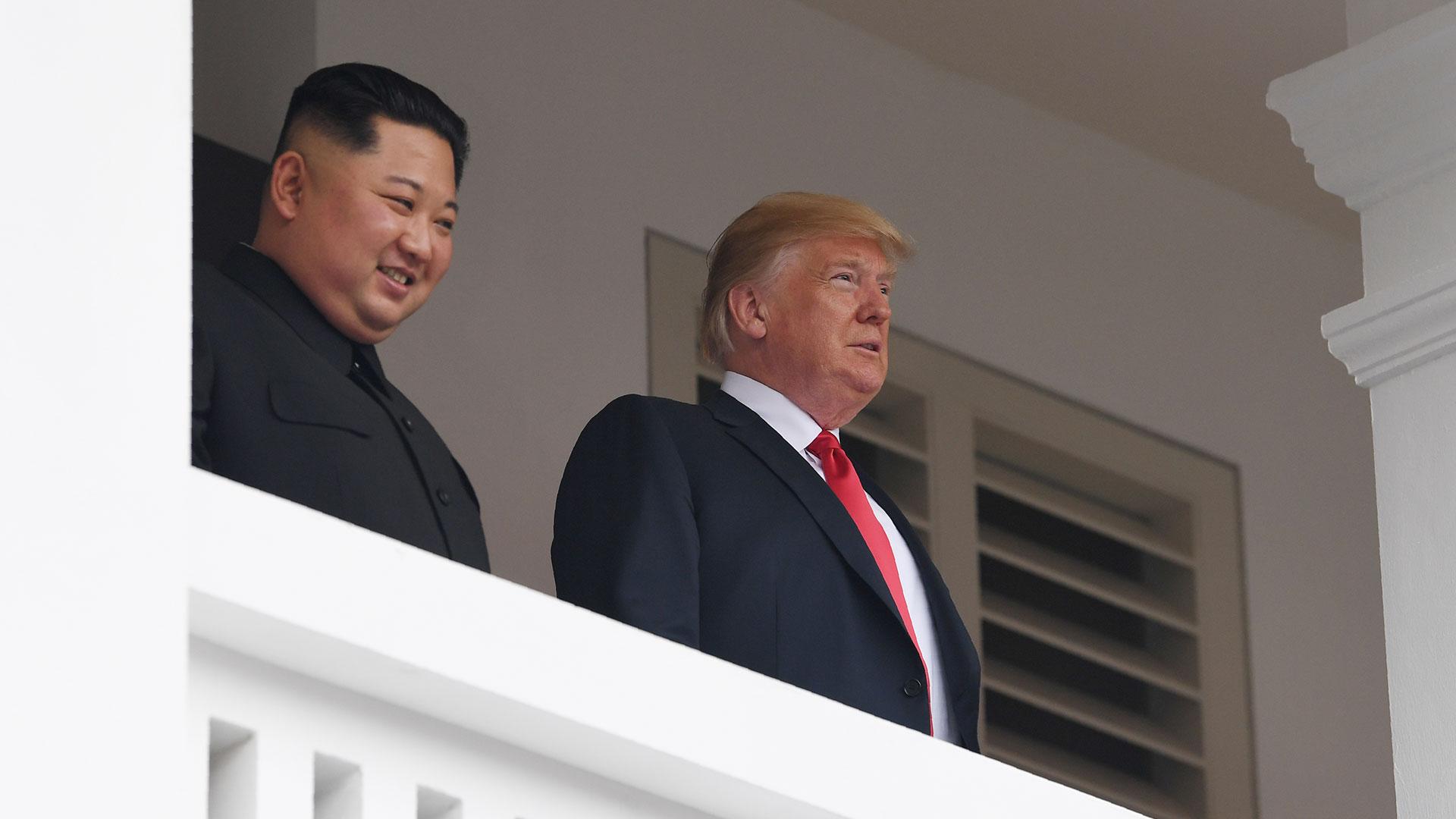 Kim Jong-un y Donald Trump. (AFP)