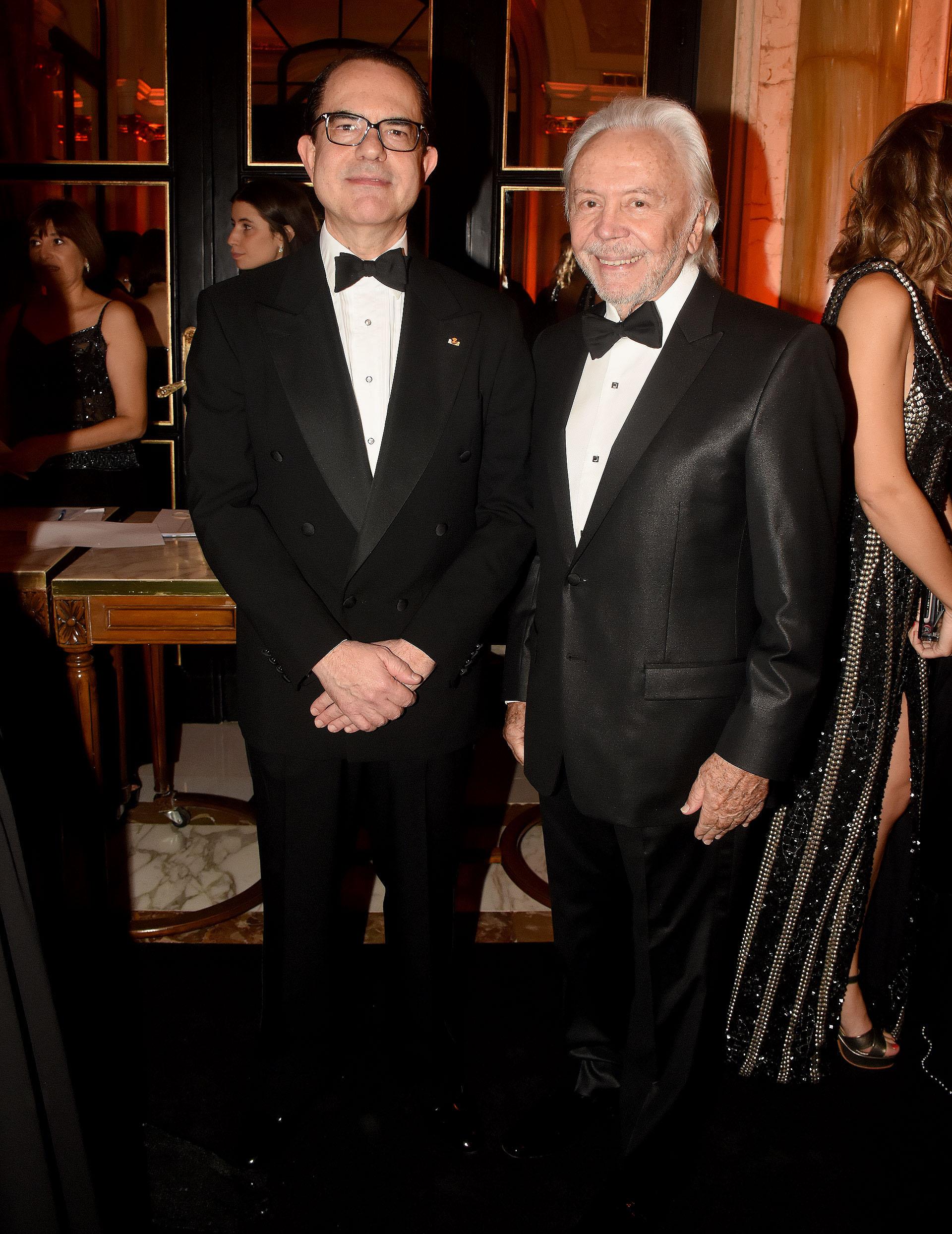 El embajador de Grecia en la Argentina, Dimitrios Zevelakis, y Guido Parisier