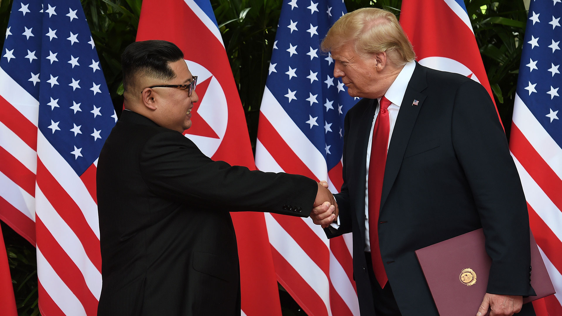 El encuentro entre Trump y Kim jon-un en Singapur (Reuters)