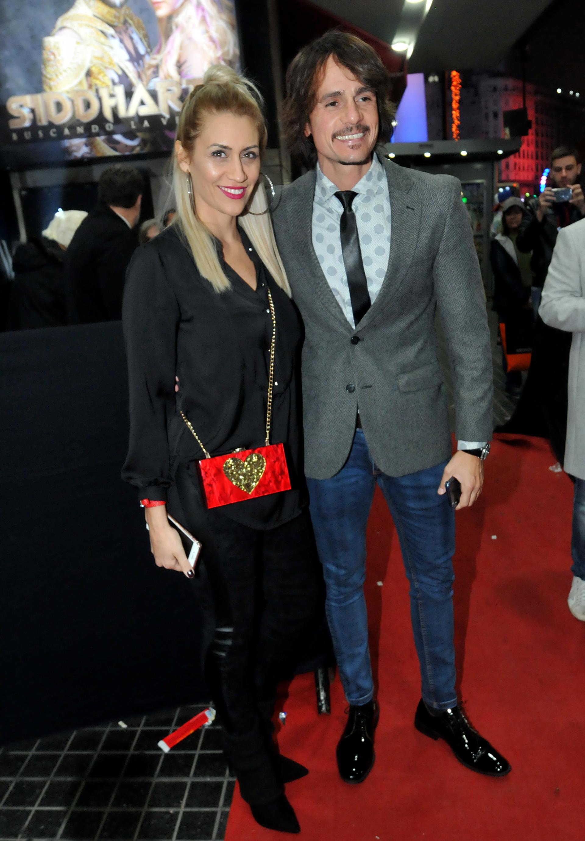 Christian Sancho y su esposa Vanesa Schual