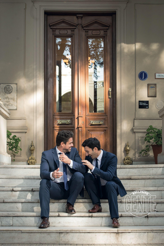 Luciano Castro y Juan Minujín (Fotos: Fabián Uset/GENTE)