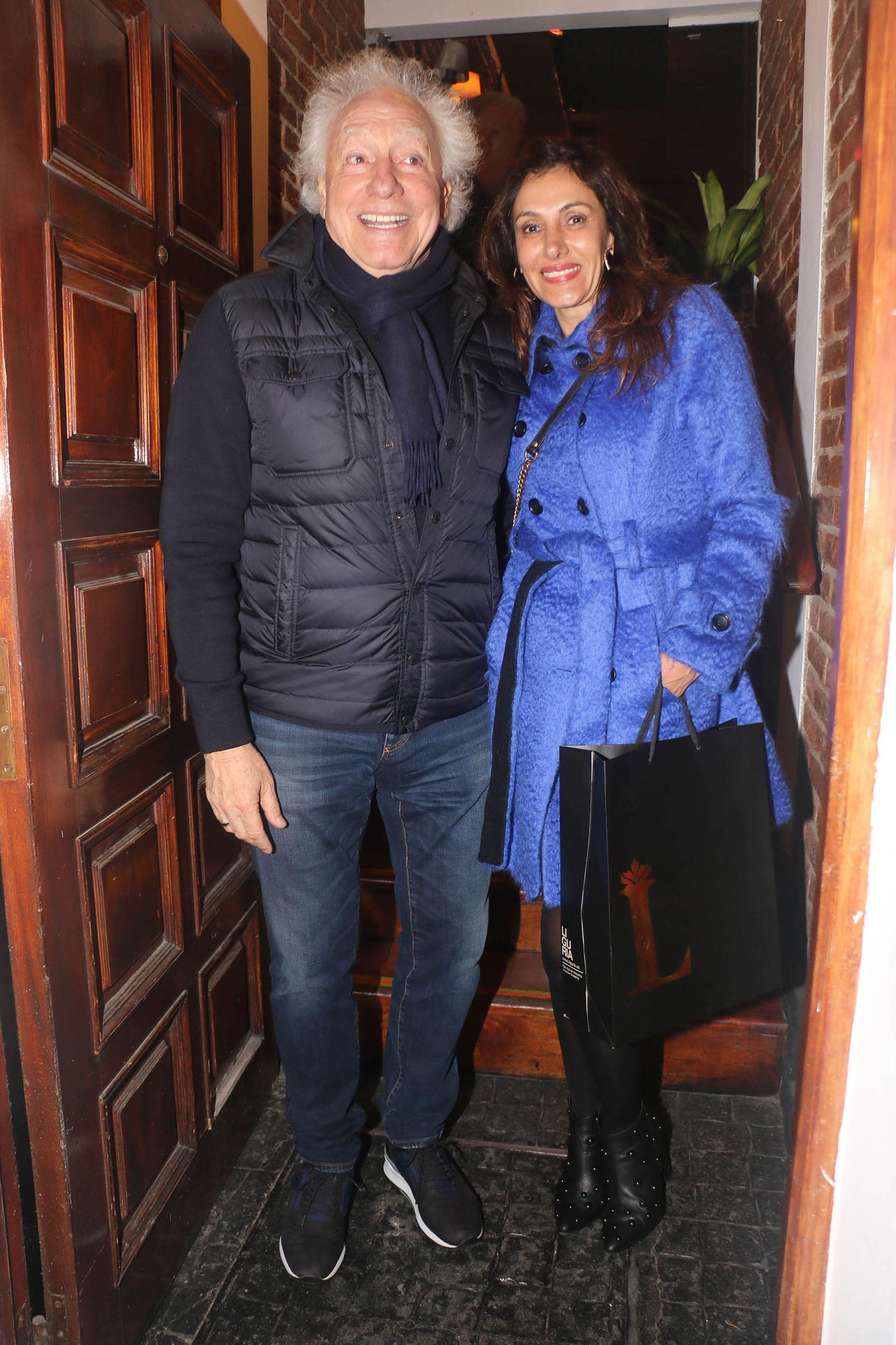 Guillermo Coppola y su mujer Corina