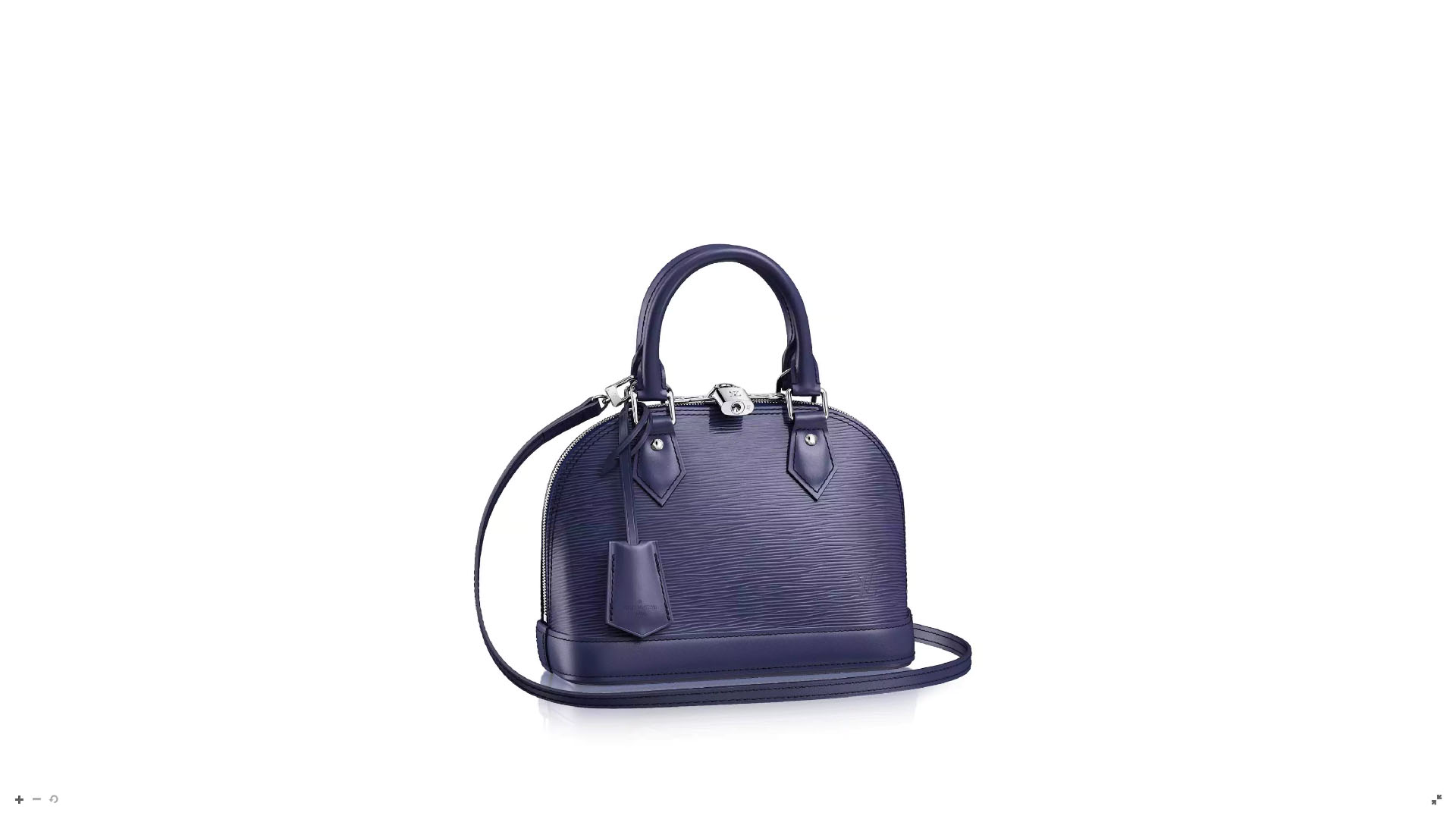 """El modelo """"Alma BB"""" está inspirado en una original pieza del Art Decó del año 1934. Es tan pequeña esta pieza que solamente entra un juego de llaves, billetera -pequeña-, el celular y un labial. Creada en Epi Cuero y una correa en el mismo tono que el bolso (Louis Vuitton)"""