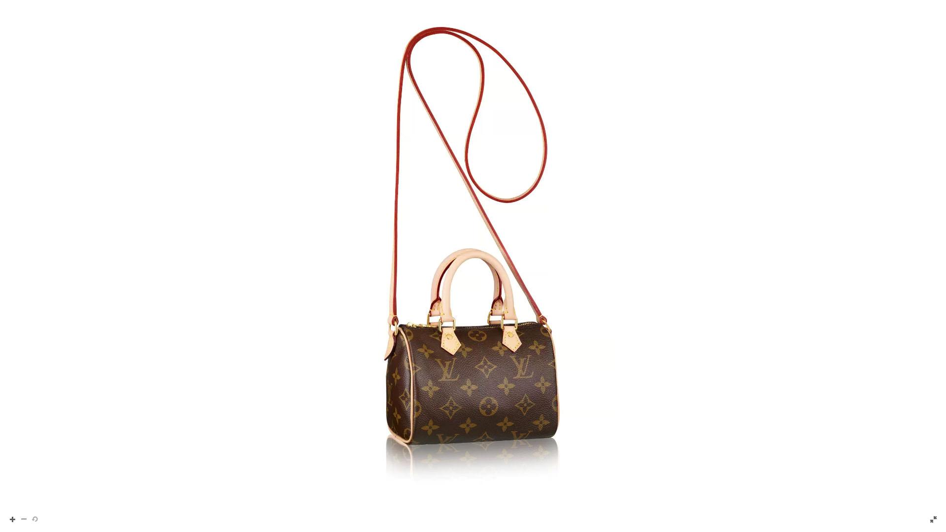 """""""Nano Speedy"""" es uno de los bolsos de LV más femeninos y chic que tienen a la venta. En su tradicional lienzo de monogram es la versión petitte del clásico. Contiene una correa larga para poder transformarla en bandolera"""