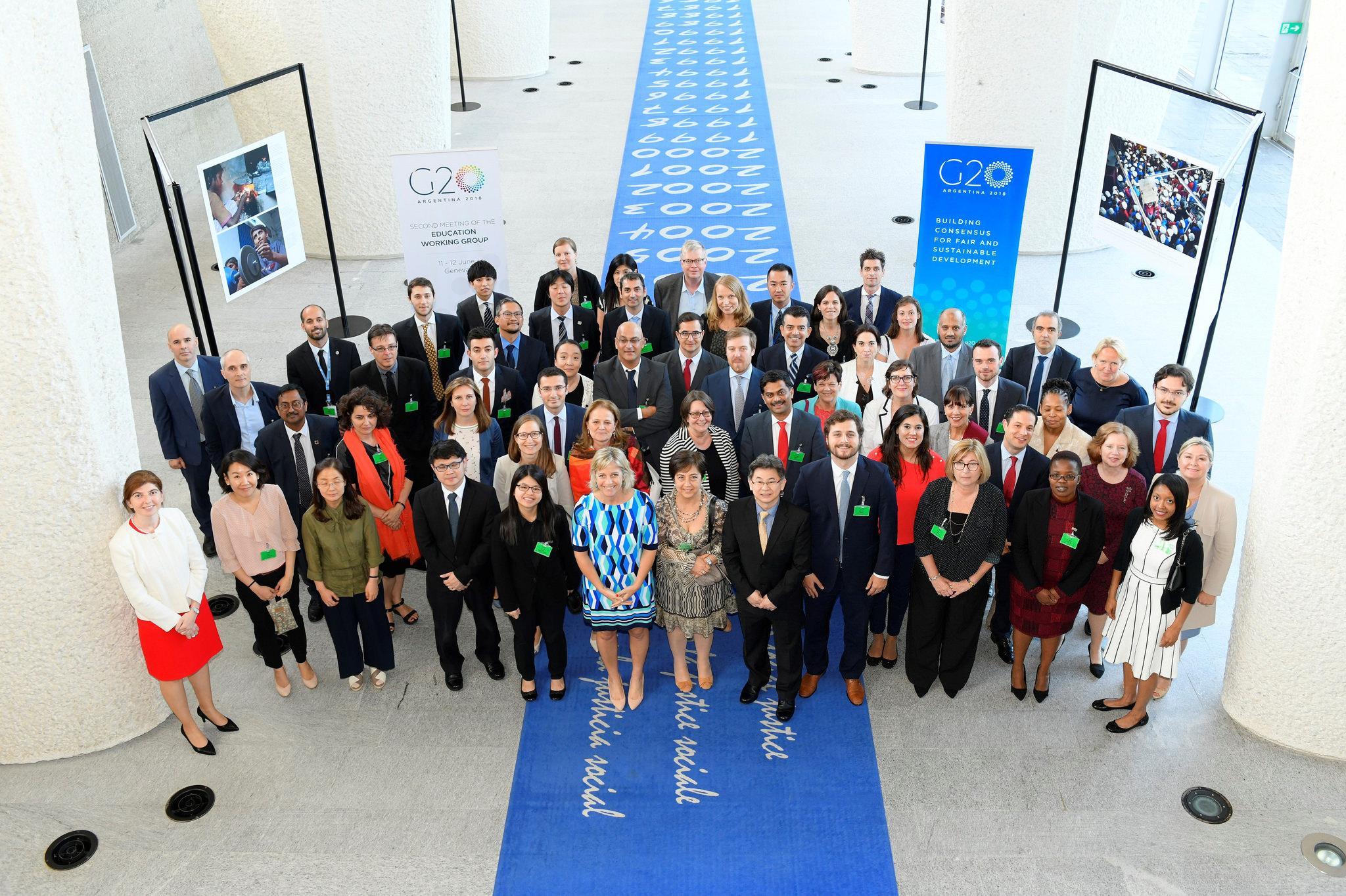 Foto de Familia del Grupo de trabajo de Educaciónd el G20