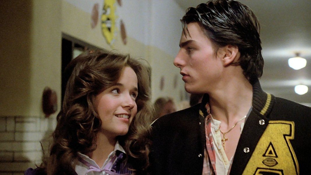 Lea Thompson y Tom Cruise en All the Right Moves (1983)