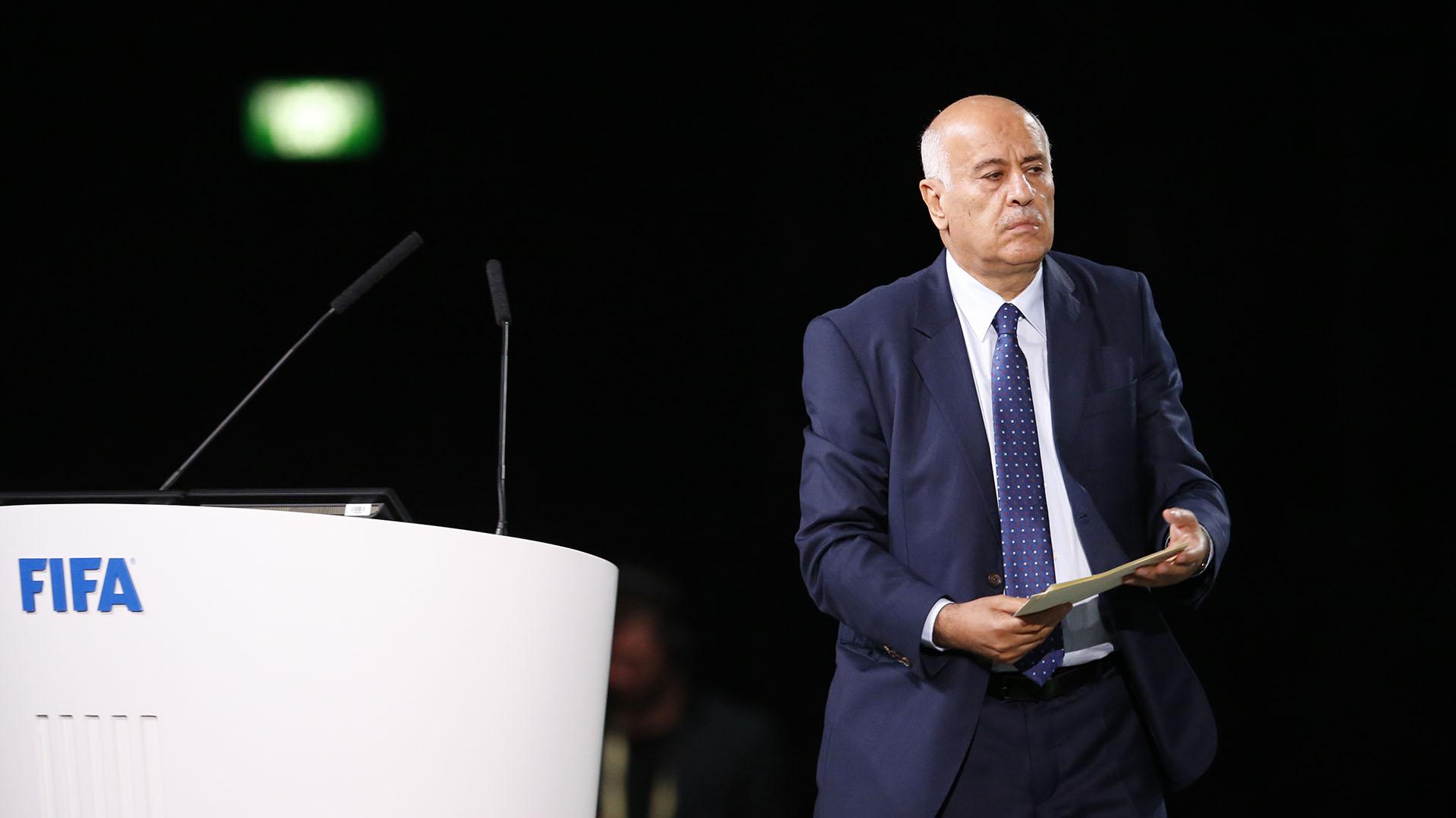 Jibril Rajoub dio un discurso en el 68° Congreso de la FIFA (AP)
