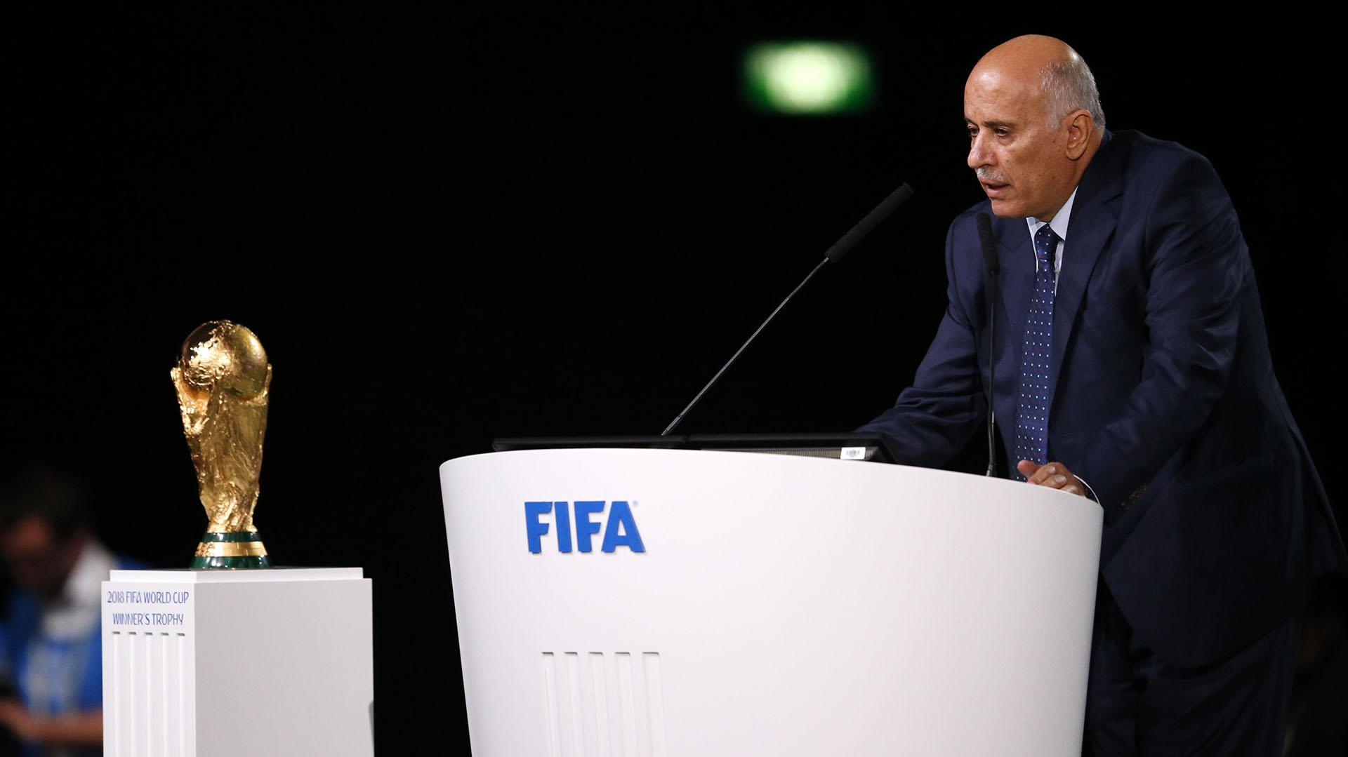 Jibril Rajoub, presidente de la Asociación Palestina de Fútbol (AP)