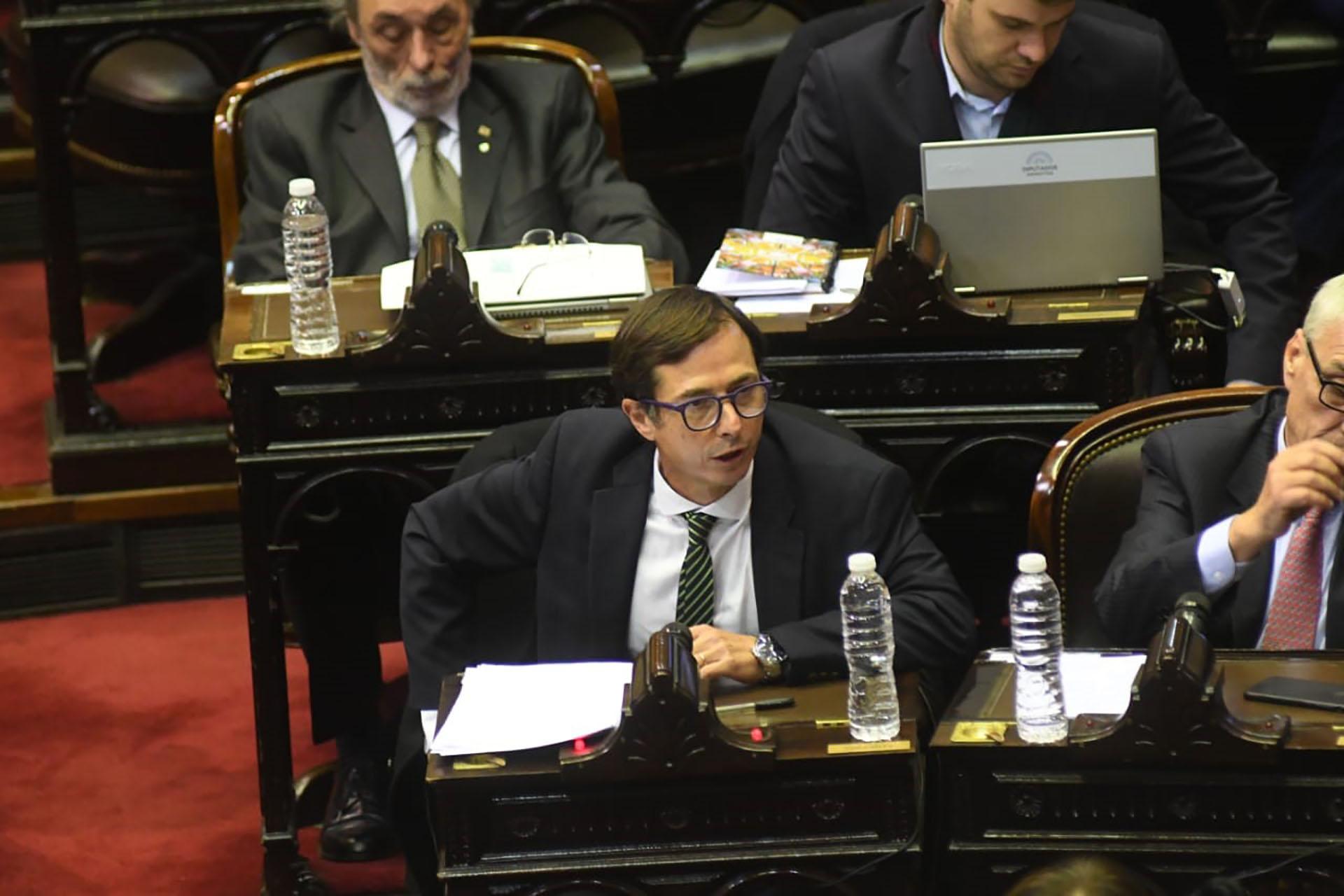 Daniel Lipovetzky fue el primer diputado en exponer en el recinto (Foto: Fabián Ramella)