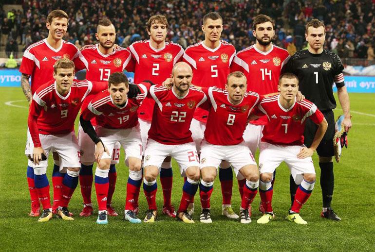 Selección de Rusia, el país anfitrión del Mundial Rusia 2018