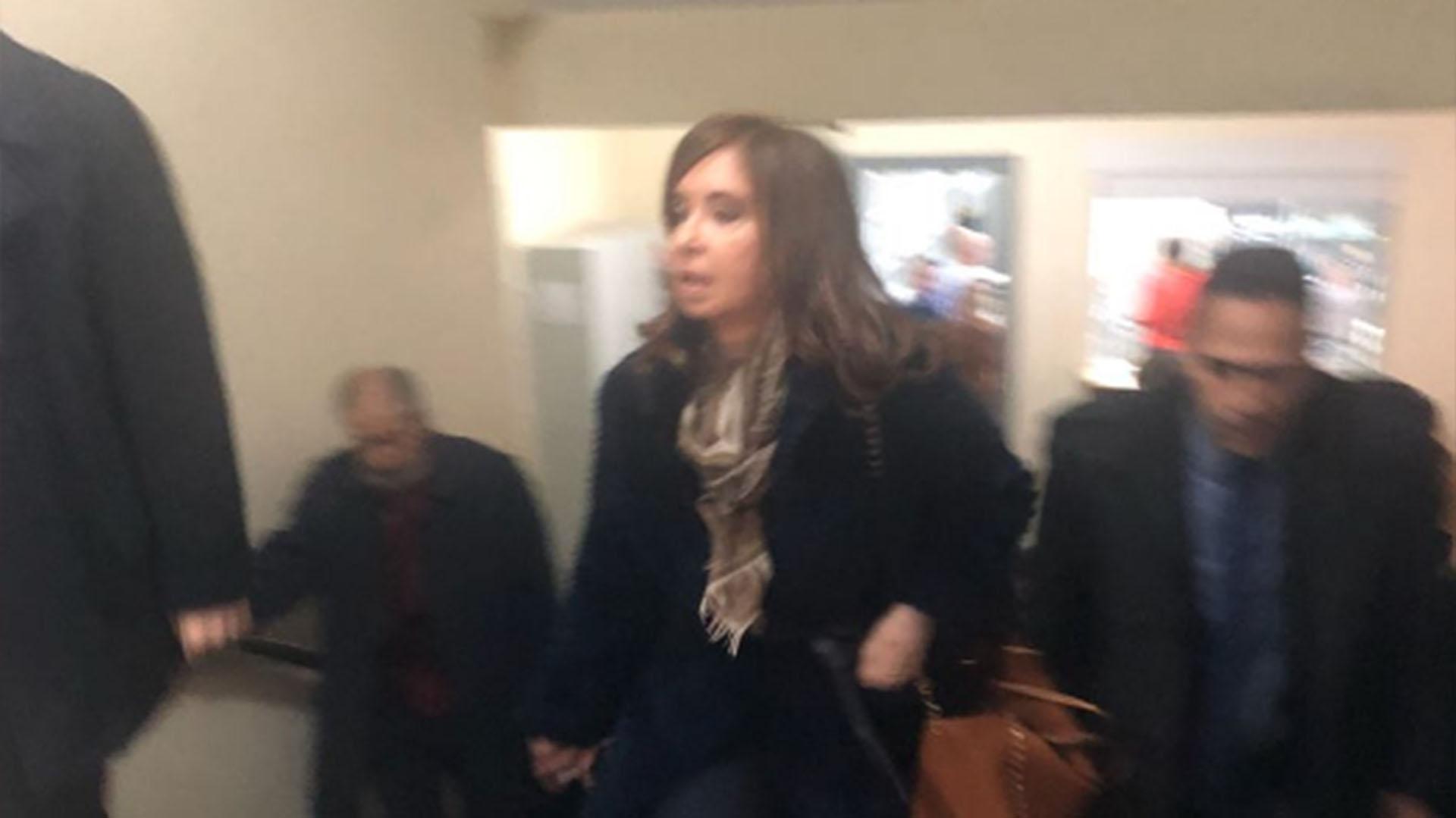 El ingreso de Cristina Kirchner a Tribunales