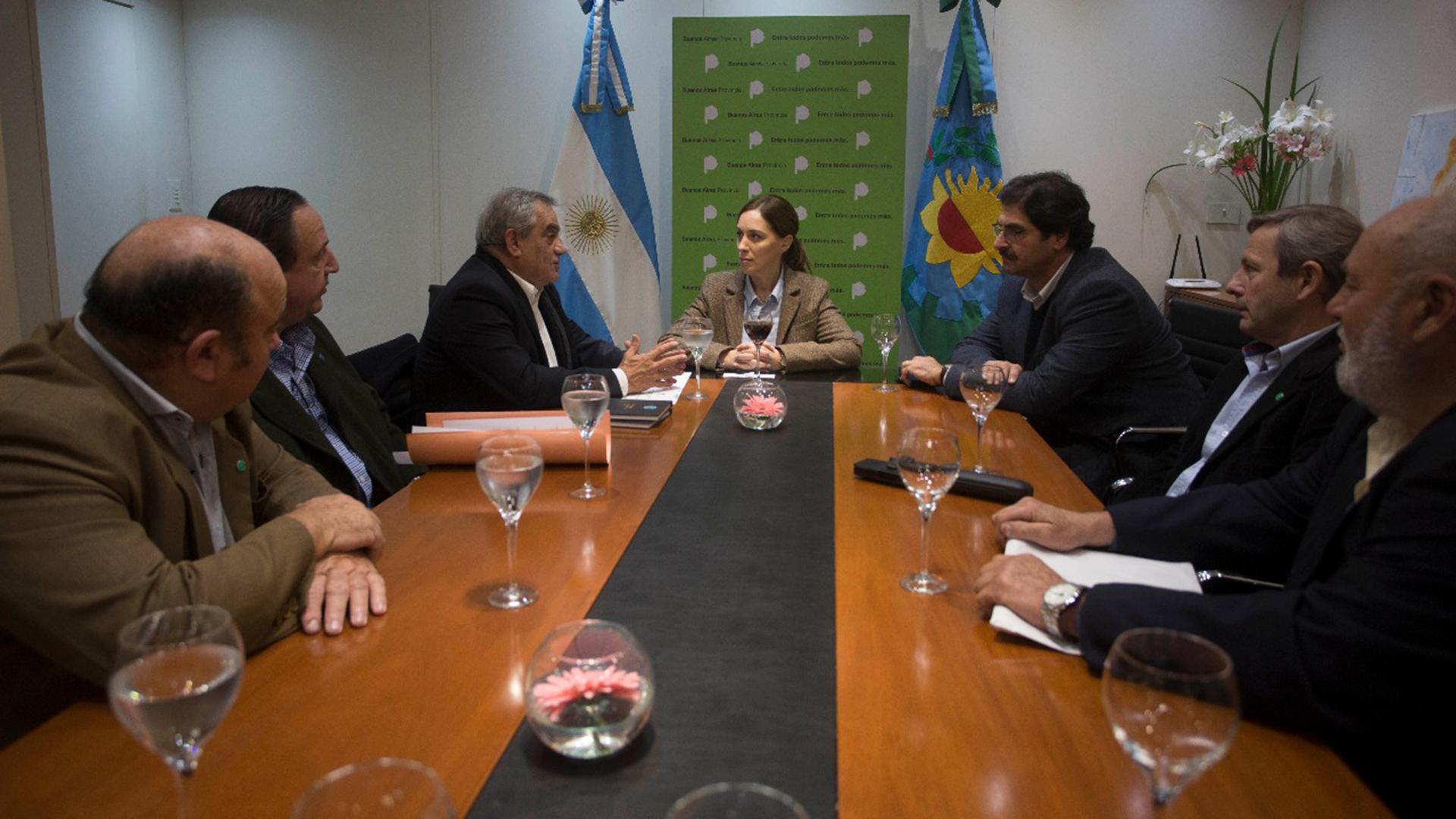 María Eugenia Vidal, gobernadora de la provincia de Buenos Aires, se reunió ayer con los representantes de Coninagro. El financiamiento, eje del encuentro