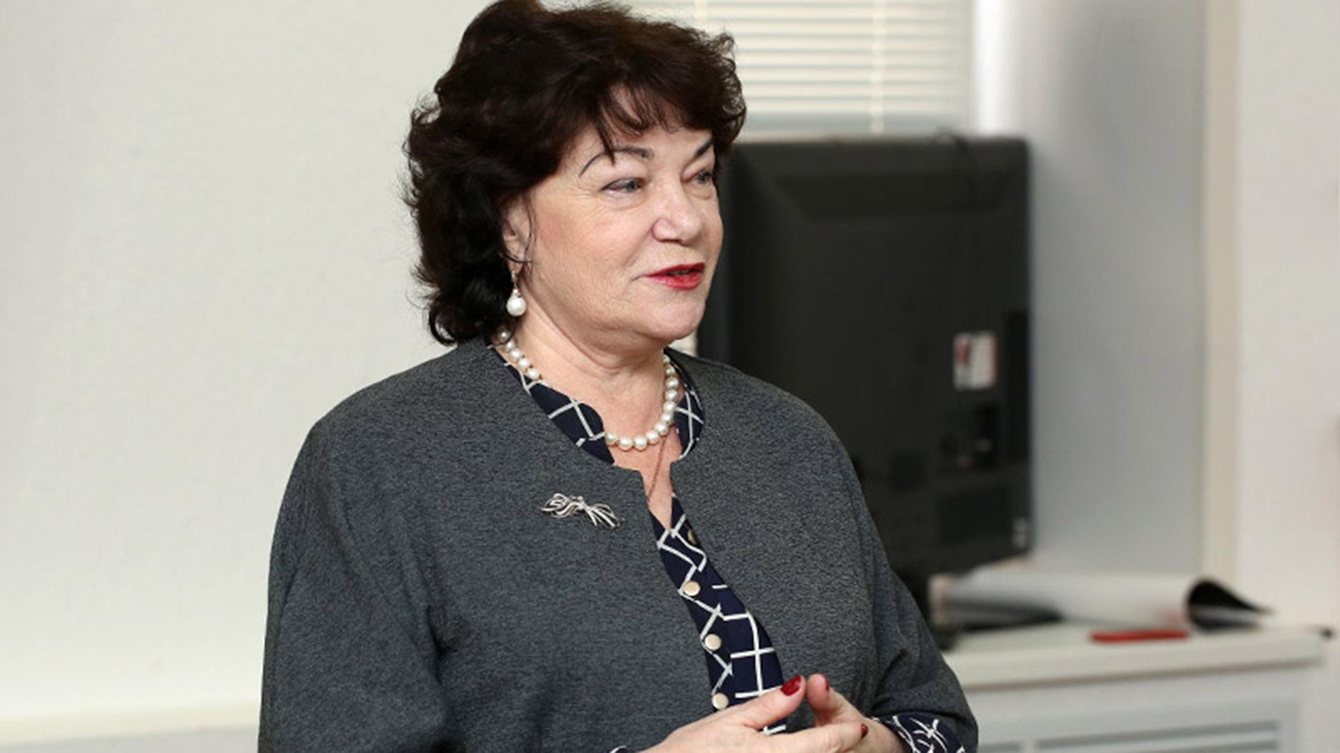 Tamara Pletneva, presidenta de la comisión de Familia de la Duma y miembro del Partido Comunista