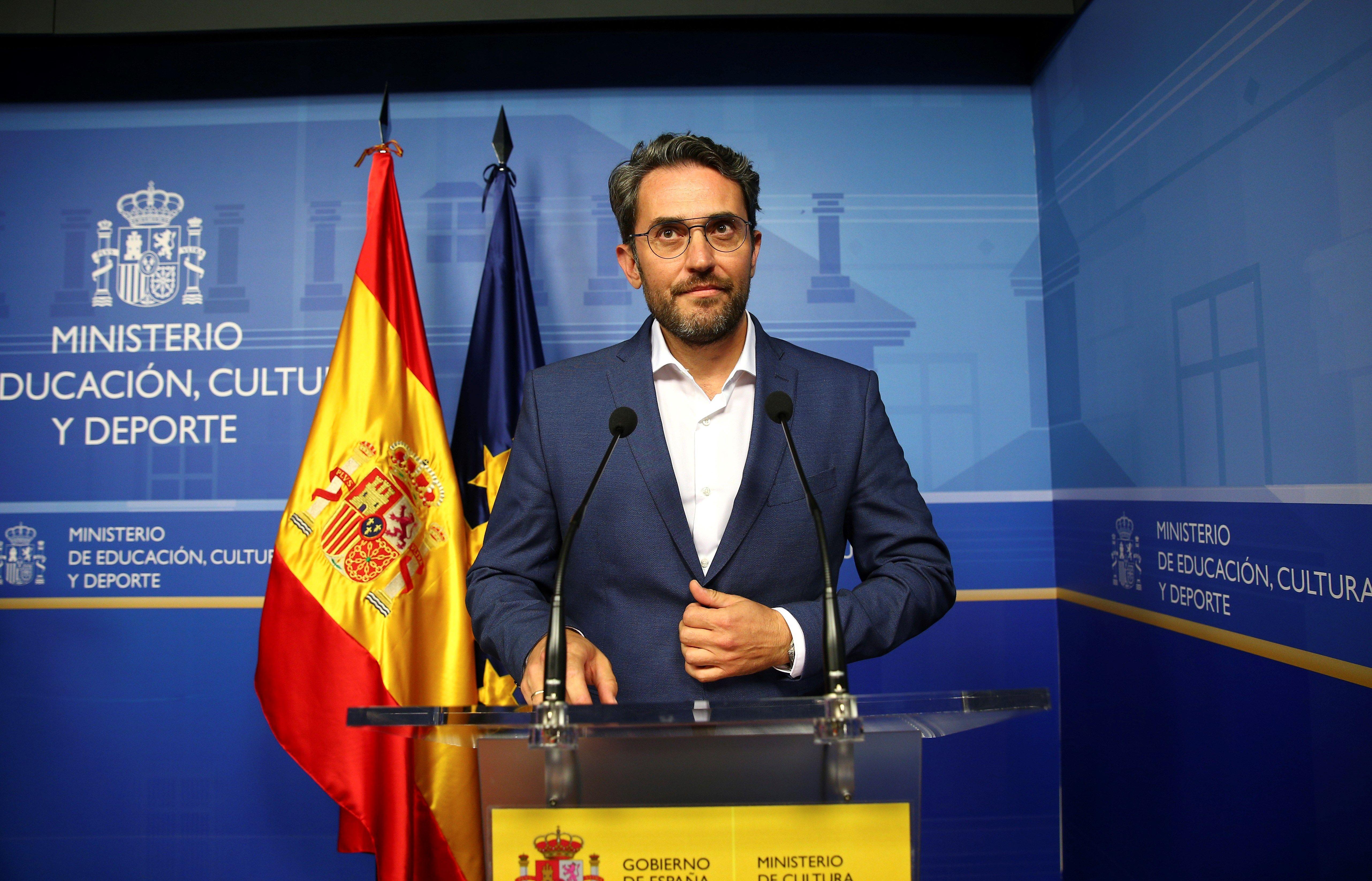 El ministro de Cultura, Máxim Huerta, anunció su dimisión durante su comparecencia en la sede del ministerio, tras conocerse que defraudó a Hacienda (Efe).