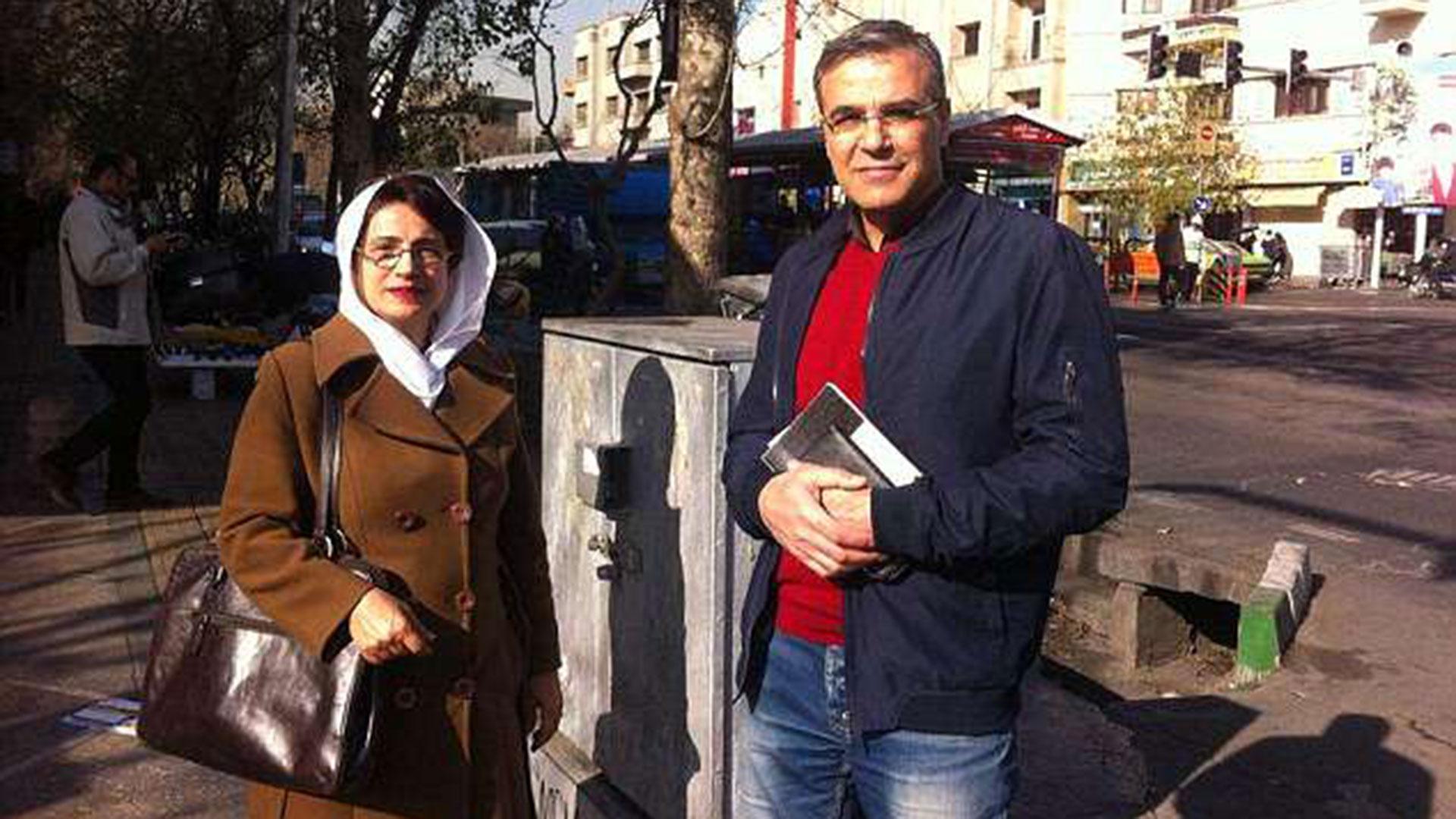 Nasrin Sotoudeh junto a su esposo