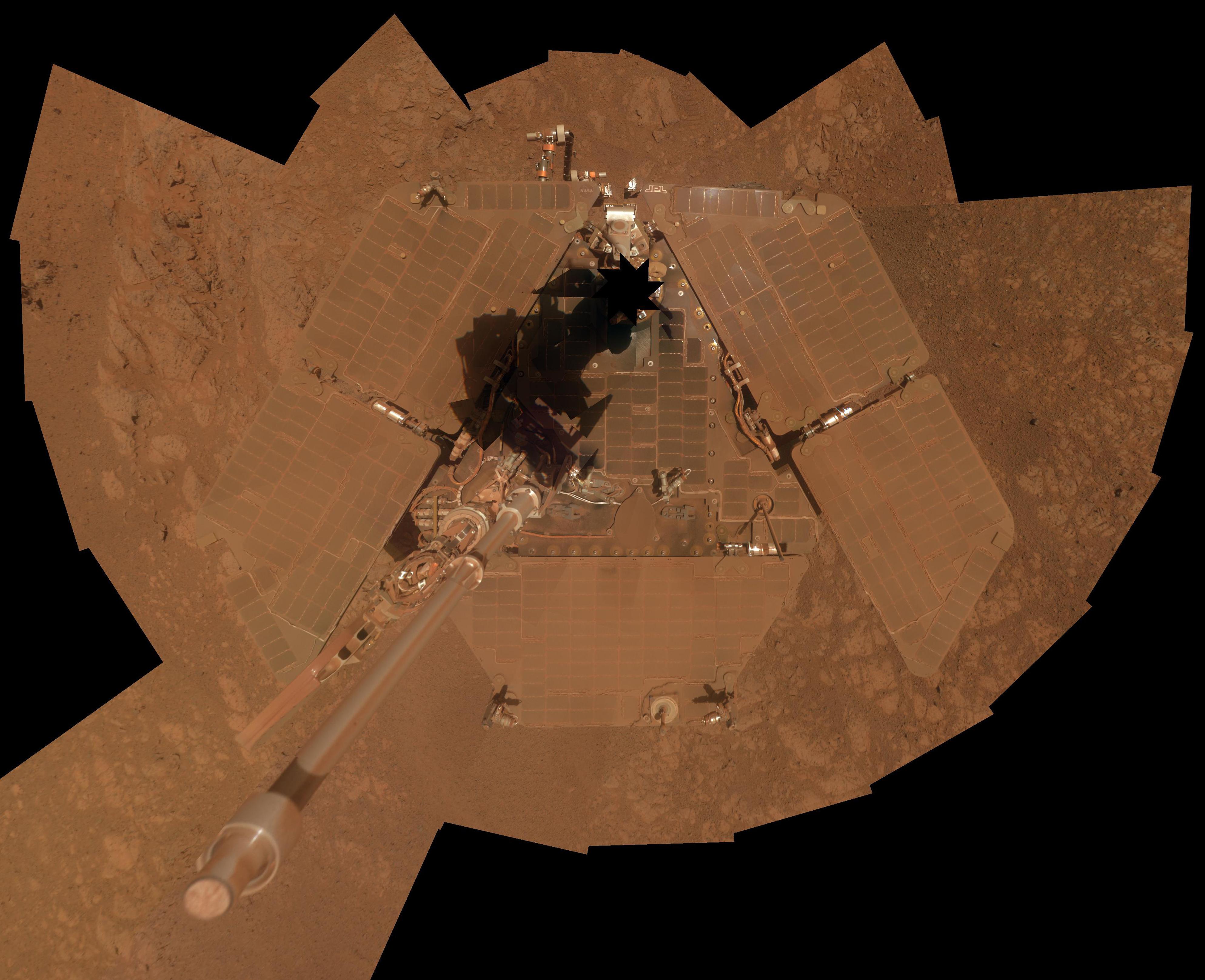 Otra foto de Opportunity, tomada en 2014 (AFP / NASA)